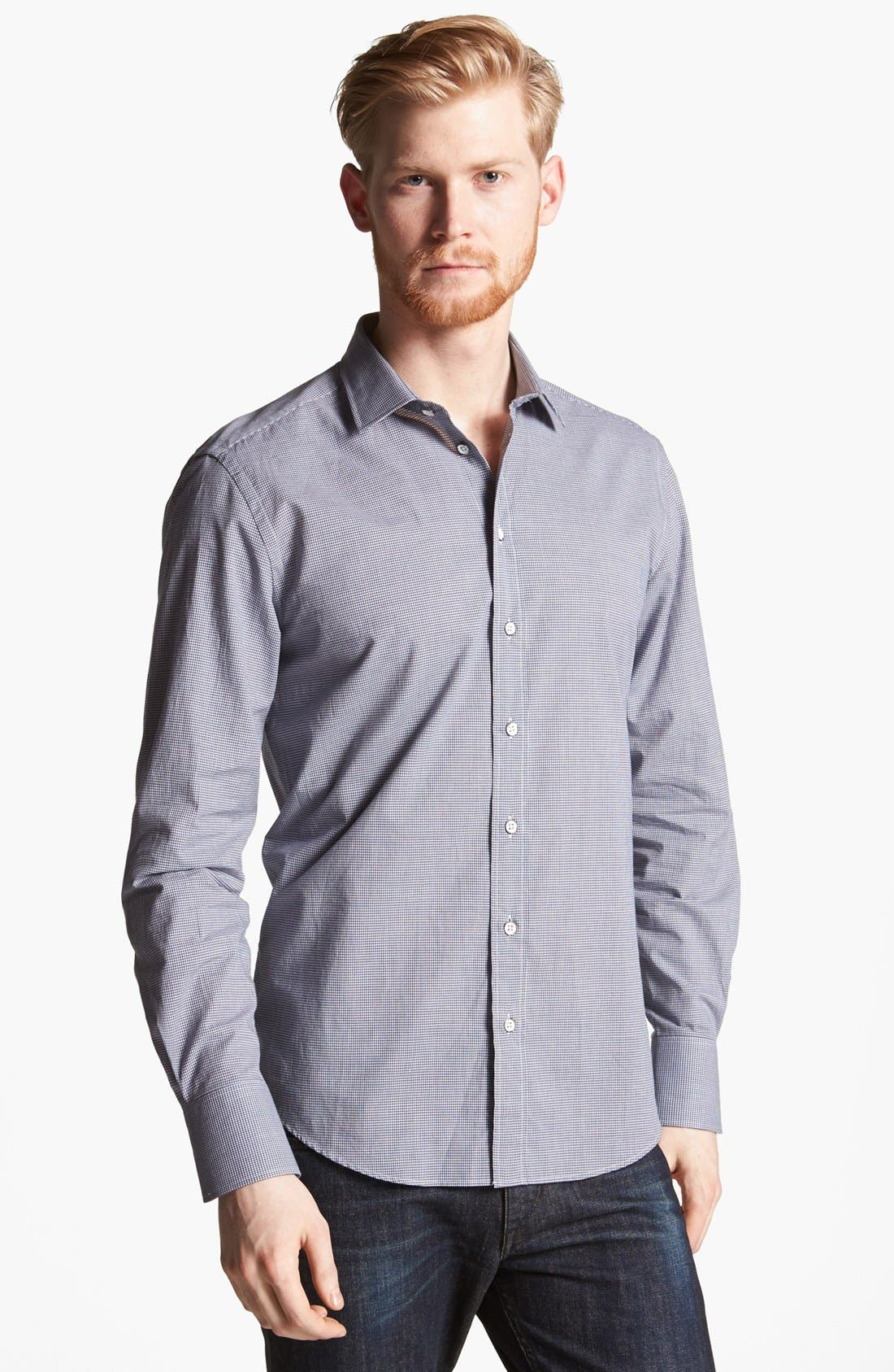 Main Image - rag & bone 'Charles' Micro Gingham Woven Shirt
