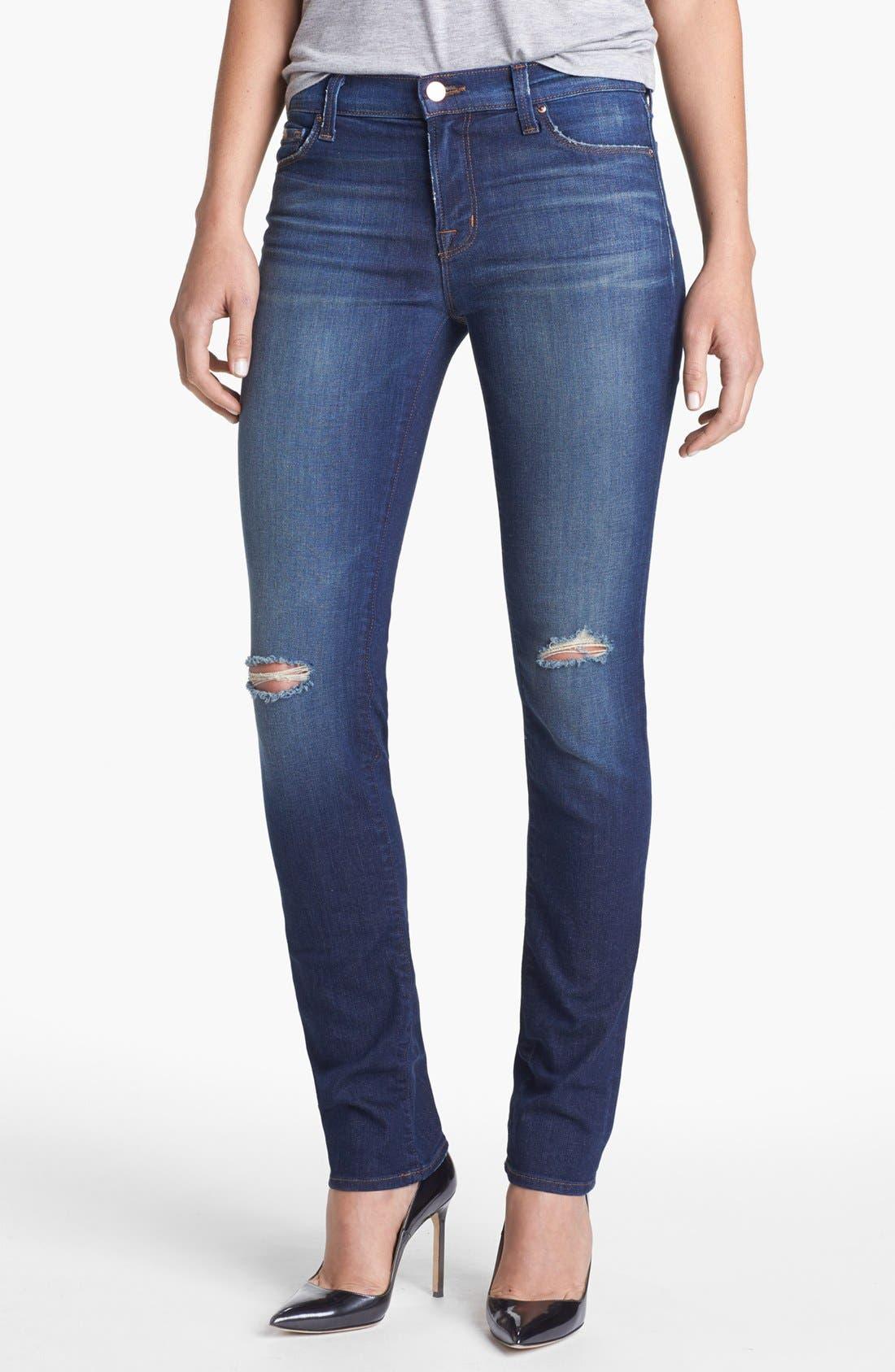 Main Image - J Brand 'Rail' Distressed Skinny Jeans (Alta)