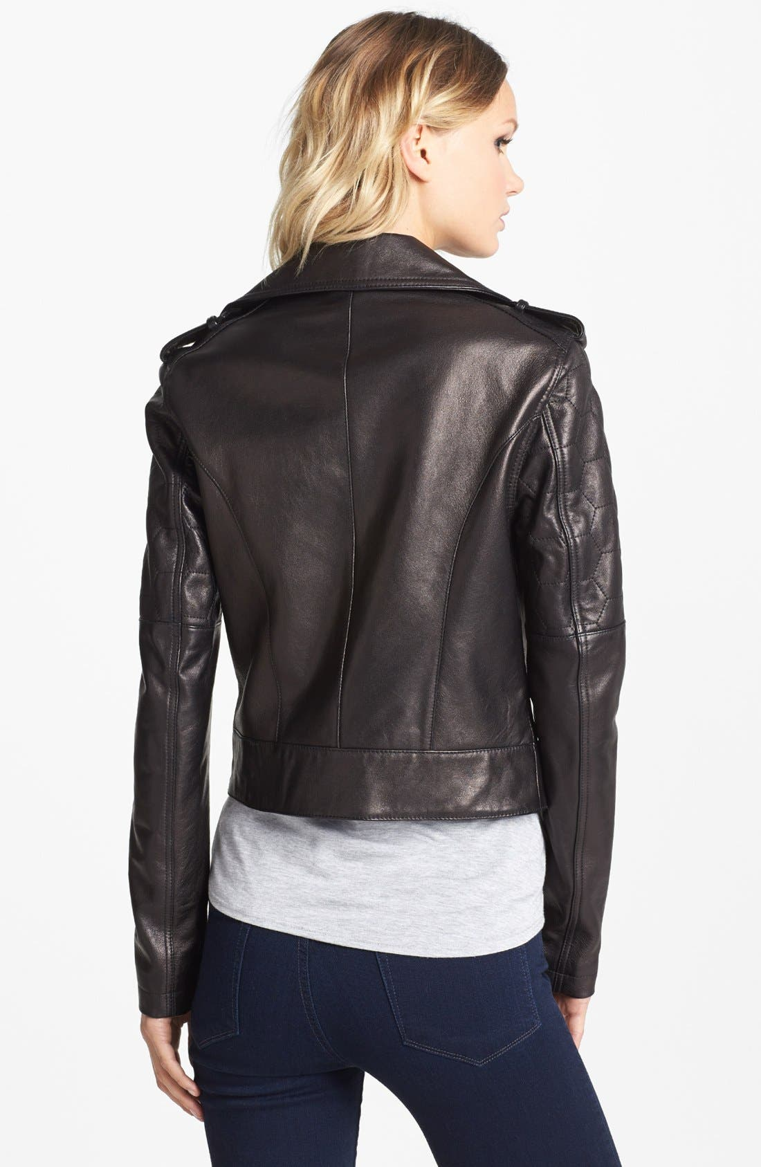 Alternate Image 2  - Paige Denim 'Sacha' Leather Jacket