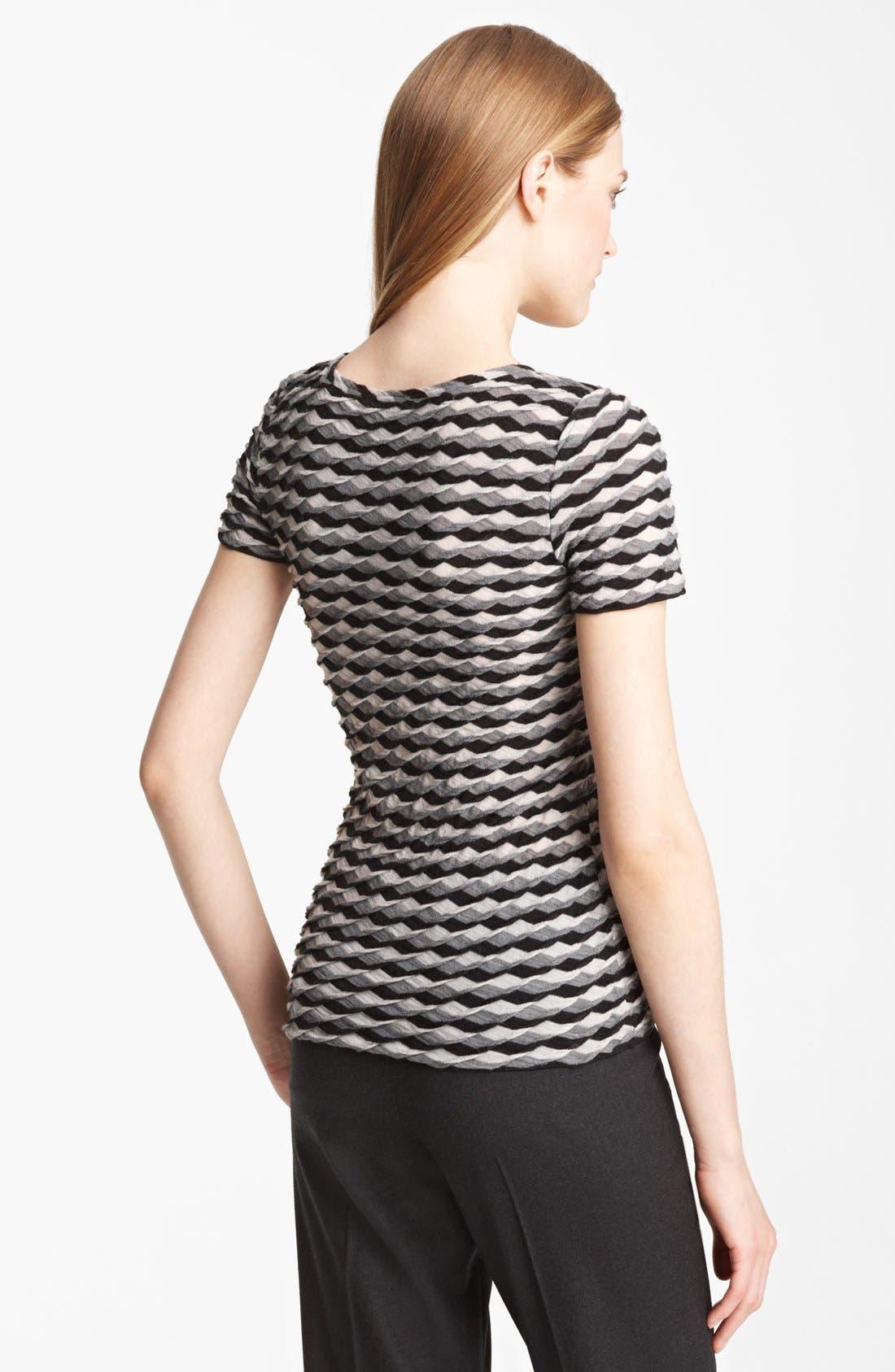 Alternate Image 2  - Armani Collezioni Geometric Wave Knit Jersey Top