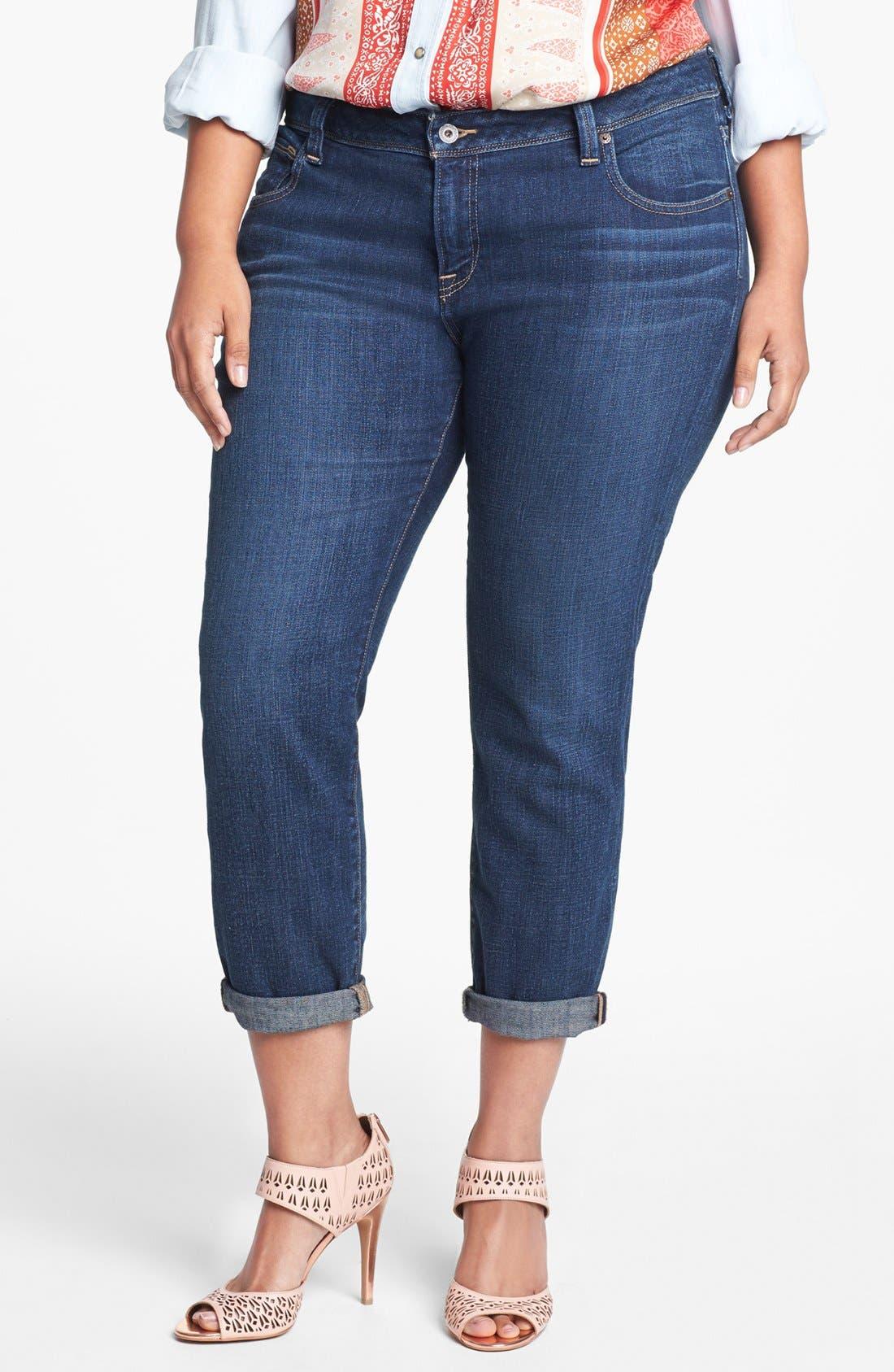 Alternate Image 1 Selected - Lucky Brand 'Georgia' Boyfriend Jeans (Plus Size)