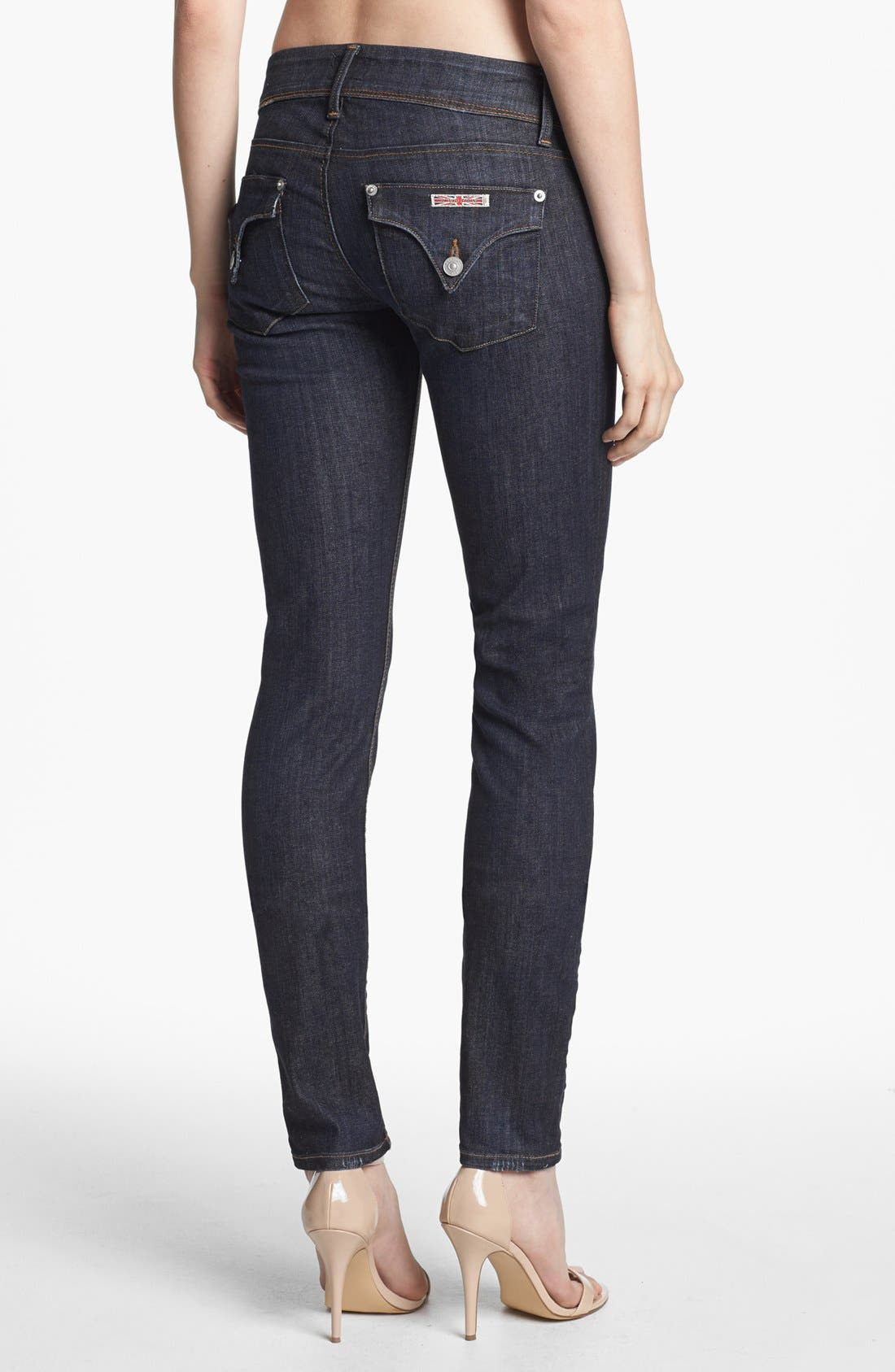 Alternate Image 2  - Hudson Jeans 'Collin' Mid Rise Skinny Jeans (Abbey)