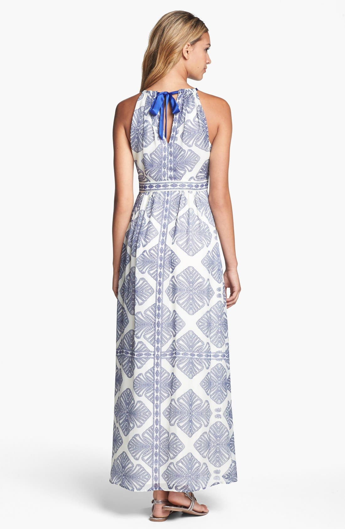 Alternate Image 2  - Vince Camuto Print Cutaway Maxi Dress