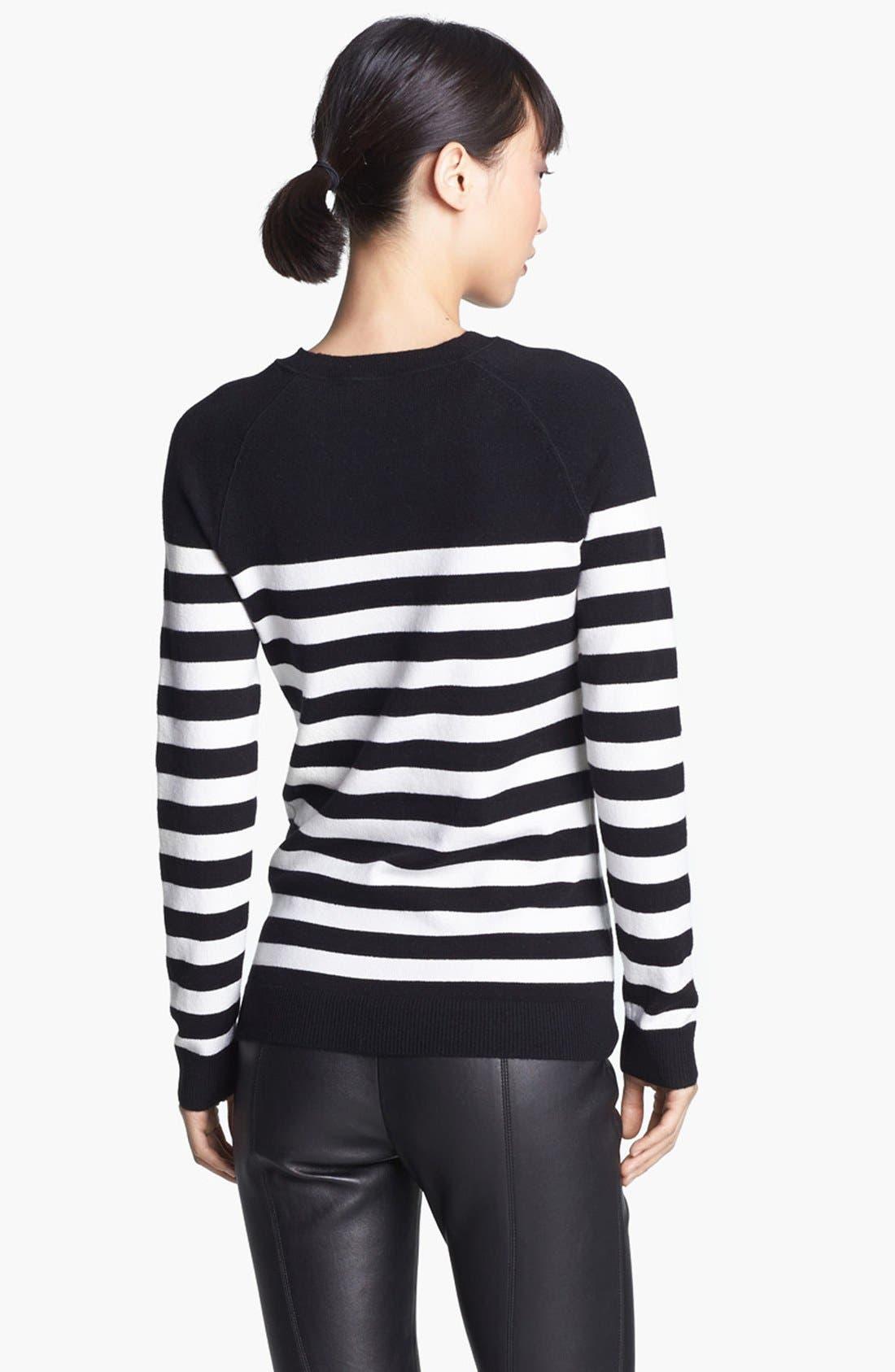 Alternate Image 3  - Miss Wu 'Zucca' Stripe Cashmere Blend Sweater (Nordstrom Exclusive)
