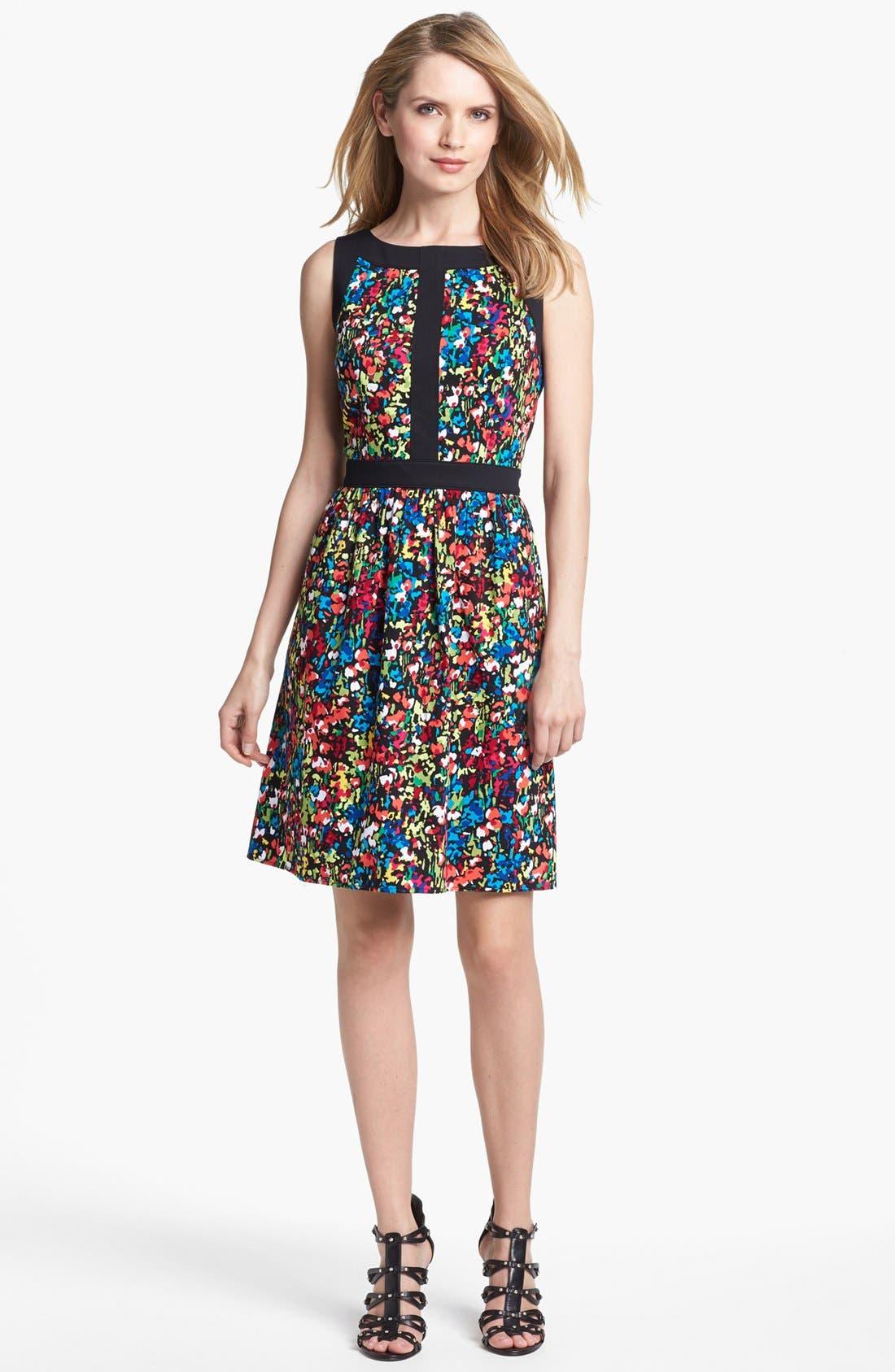 Alternate Image 1 Selected - Ellen Tracy Floral Print Fit & Flare Dress