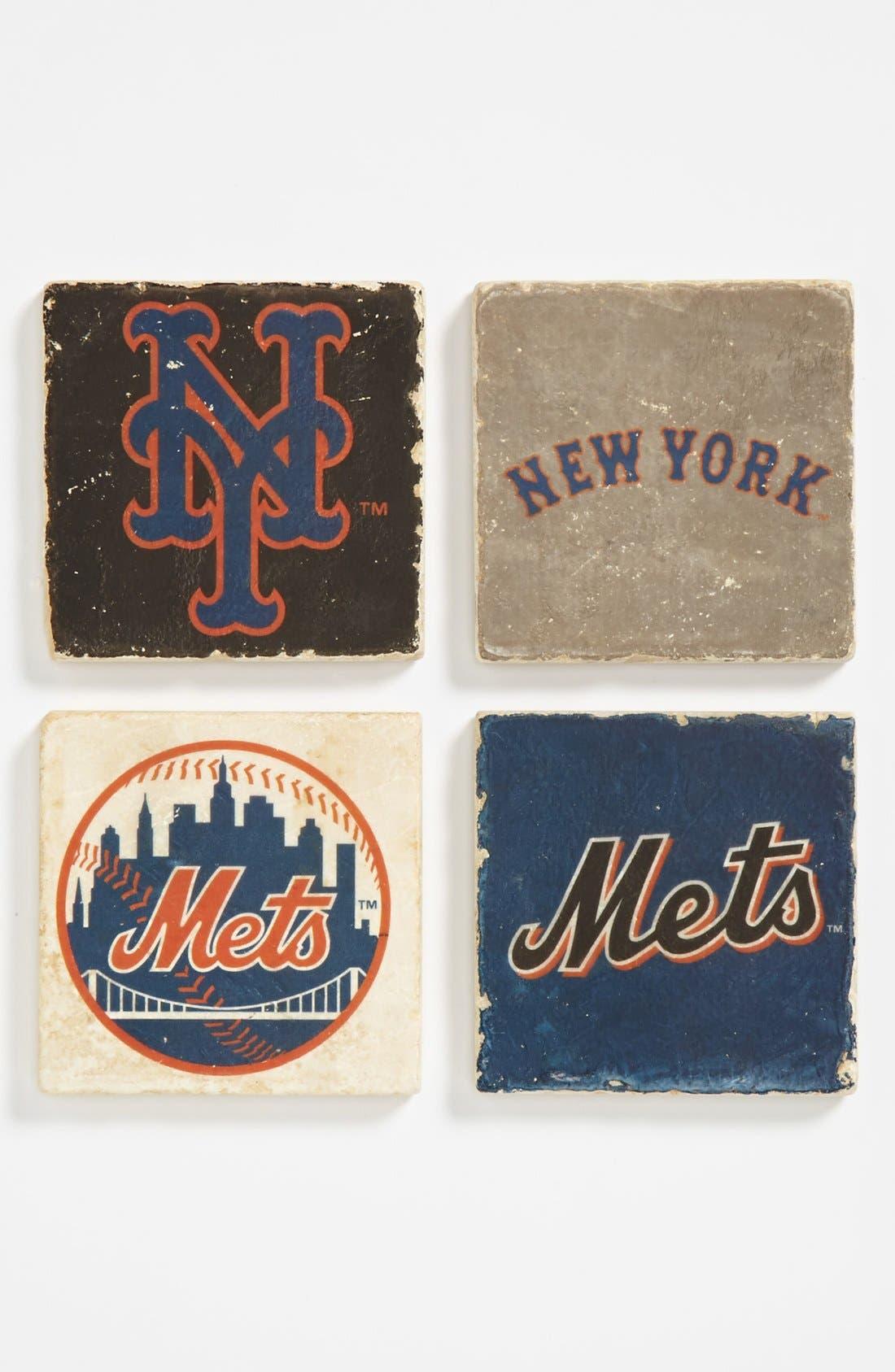 Alternate Image 1 Selected - 'New York Mets' Marble Coasters (Set of 4)