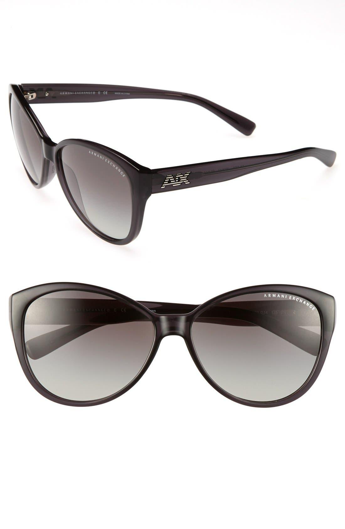 Alternate Image 1 Selected - AX Armani Exchange 59mm Cat Eye Sunglasses