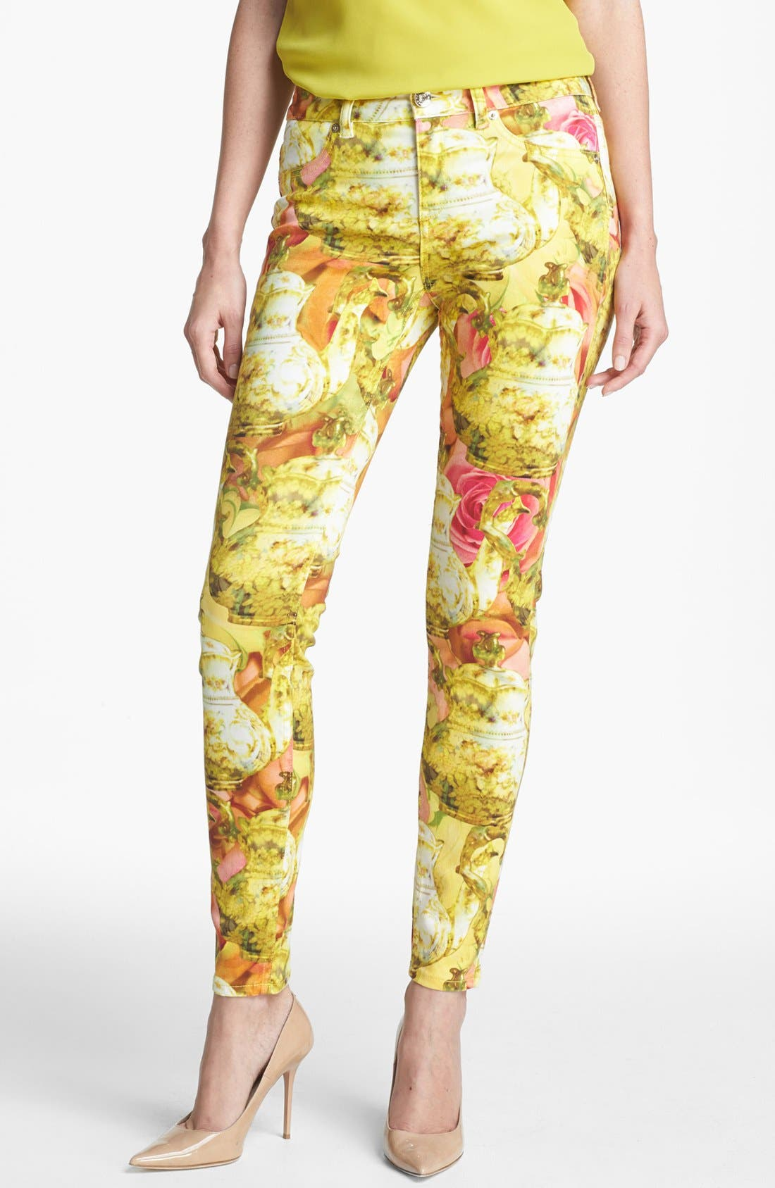 Main Image - Ted Baker London 'Danelle - Tea Pot' Ankle Skinny Stretch Ankle Jeans (Shell)