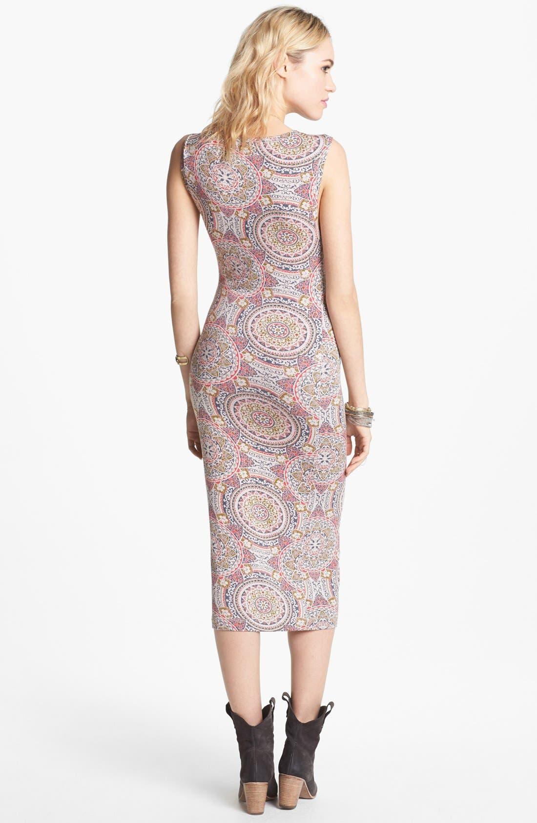Alternate Image 2  - Free People 'Love from London' Print Midi Dress