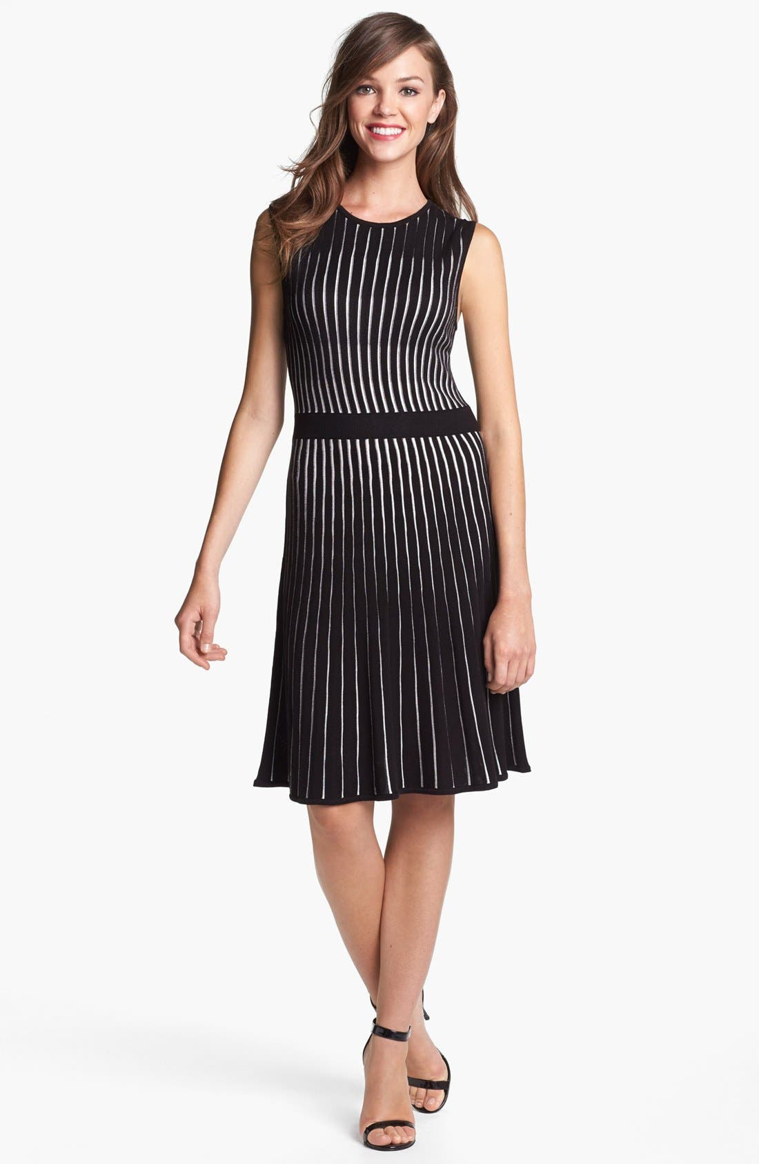 Alternate Image 1 Selected - Calvin Klein Fit & Flare Sweater Dress