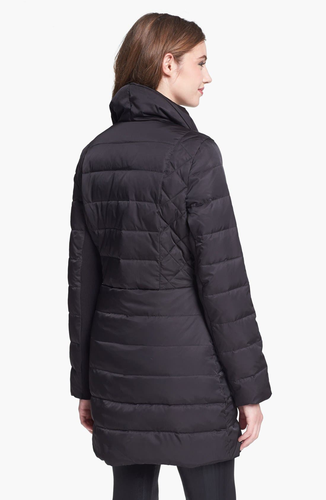Alternate Image 2  - Kenneth Cole New York Asymmetrical Down & Feather Coat