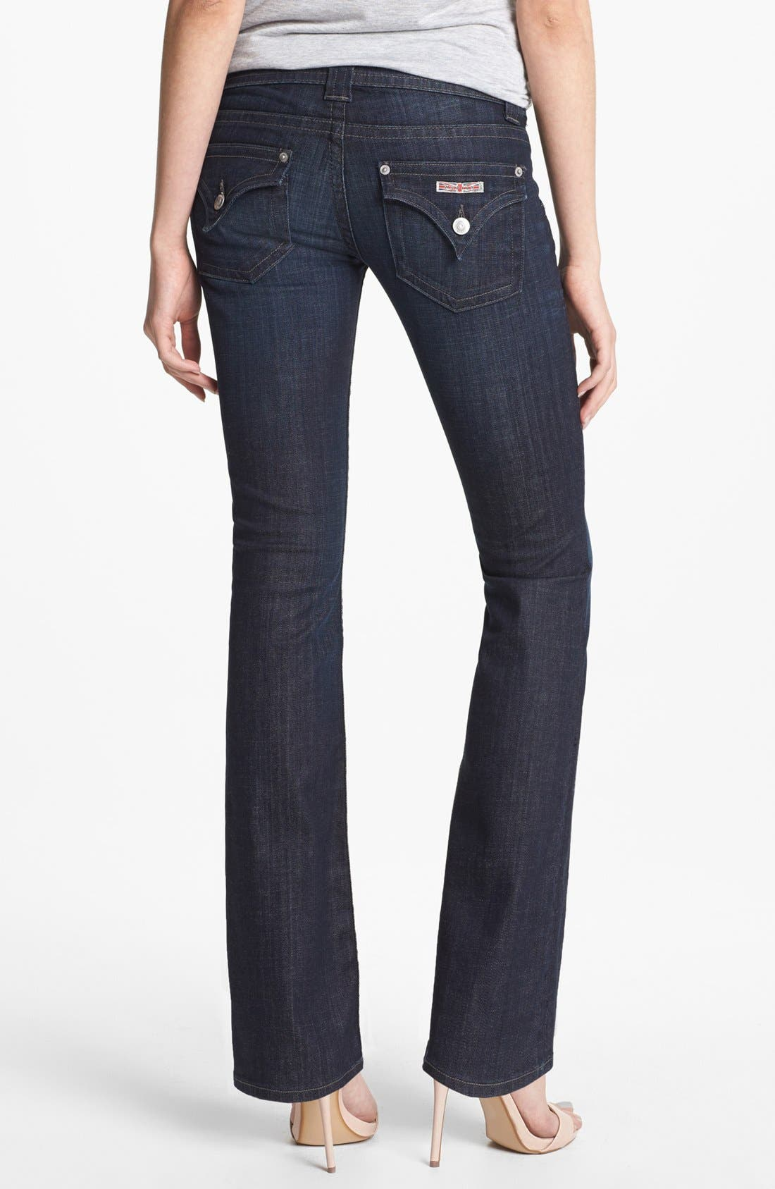Alternate Image 2  - Hudson Jeans Signature Bootcut Stretch Jeans (Savage) (Petite)