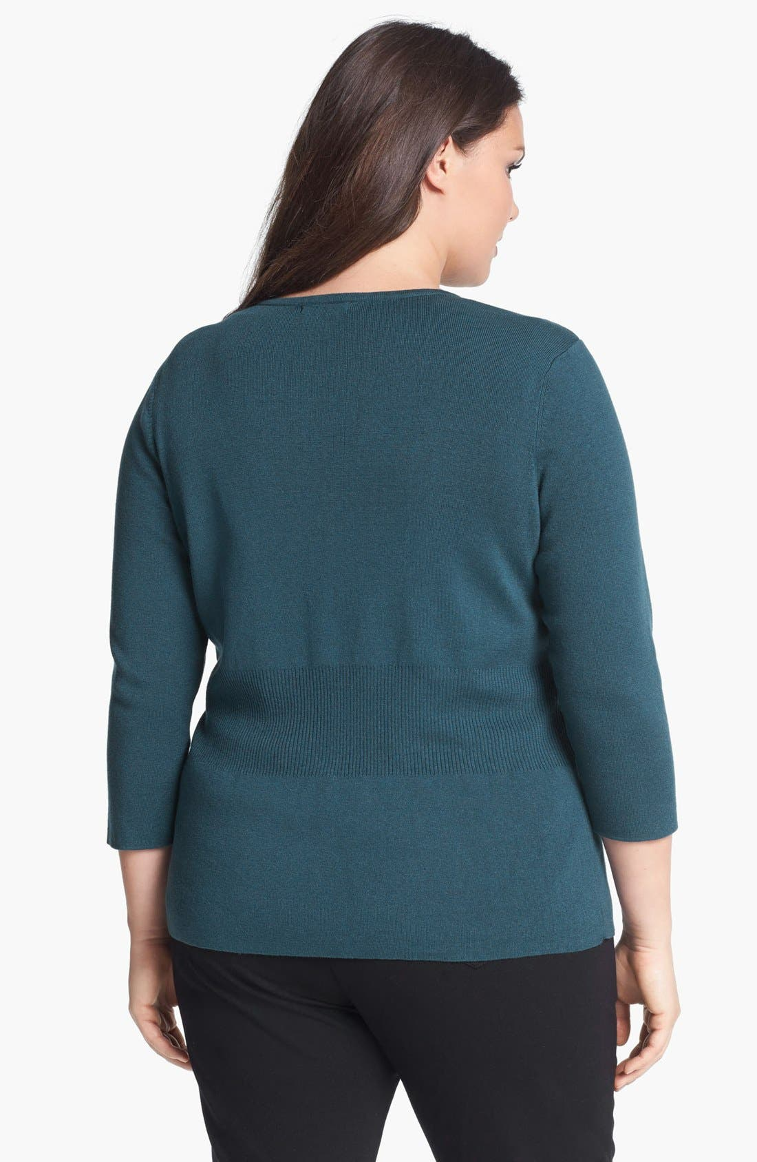 Alternate Image 2  - NIC + ZOE 'Back of the Chair' Cardigan (Plus Size)