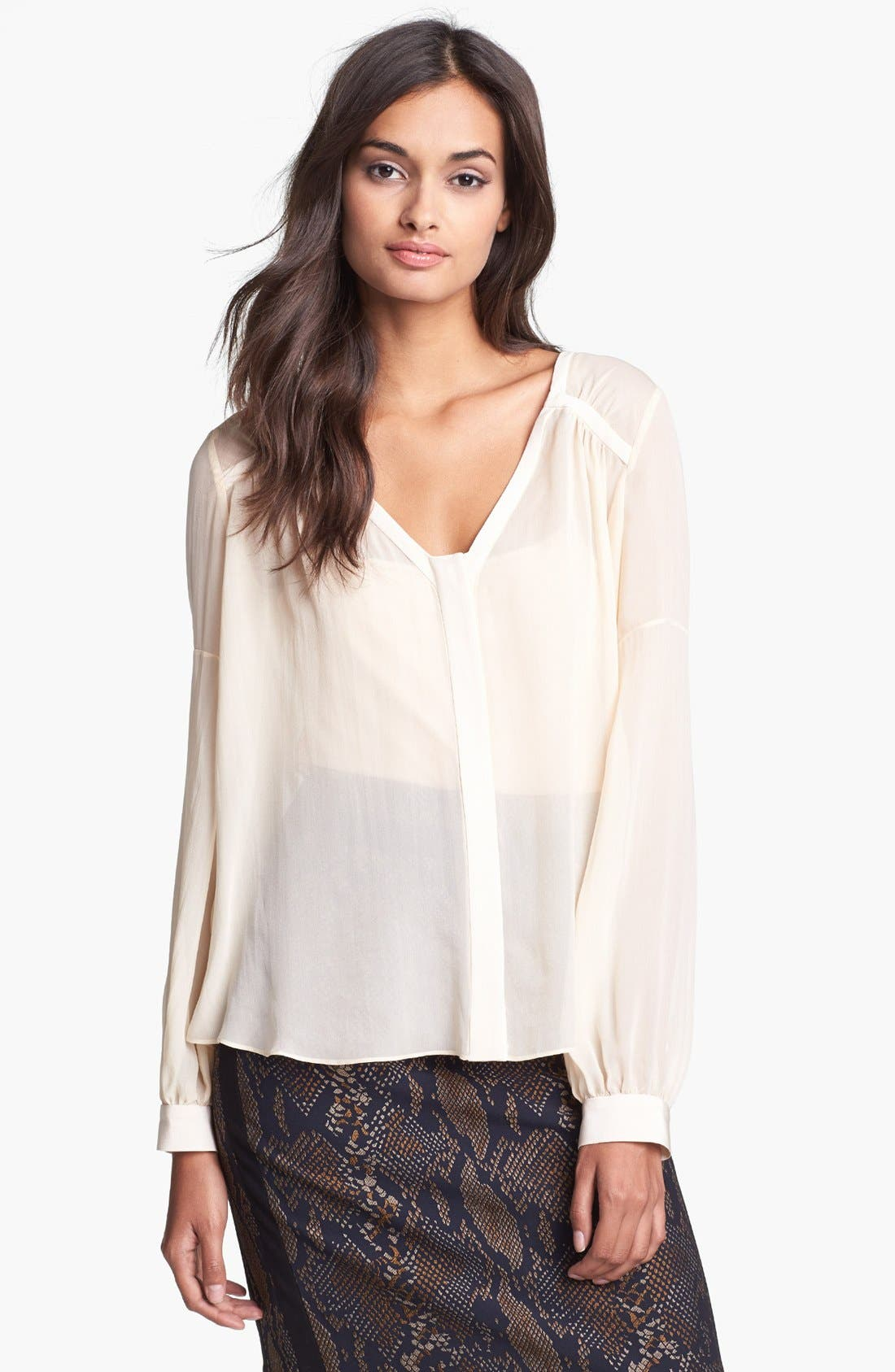 Alternate Image 1 Selected - Diane von Furstenberg 'Lane' Silk Top
