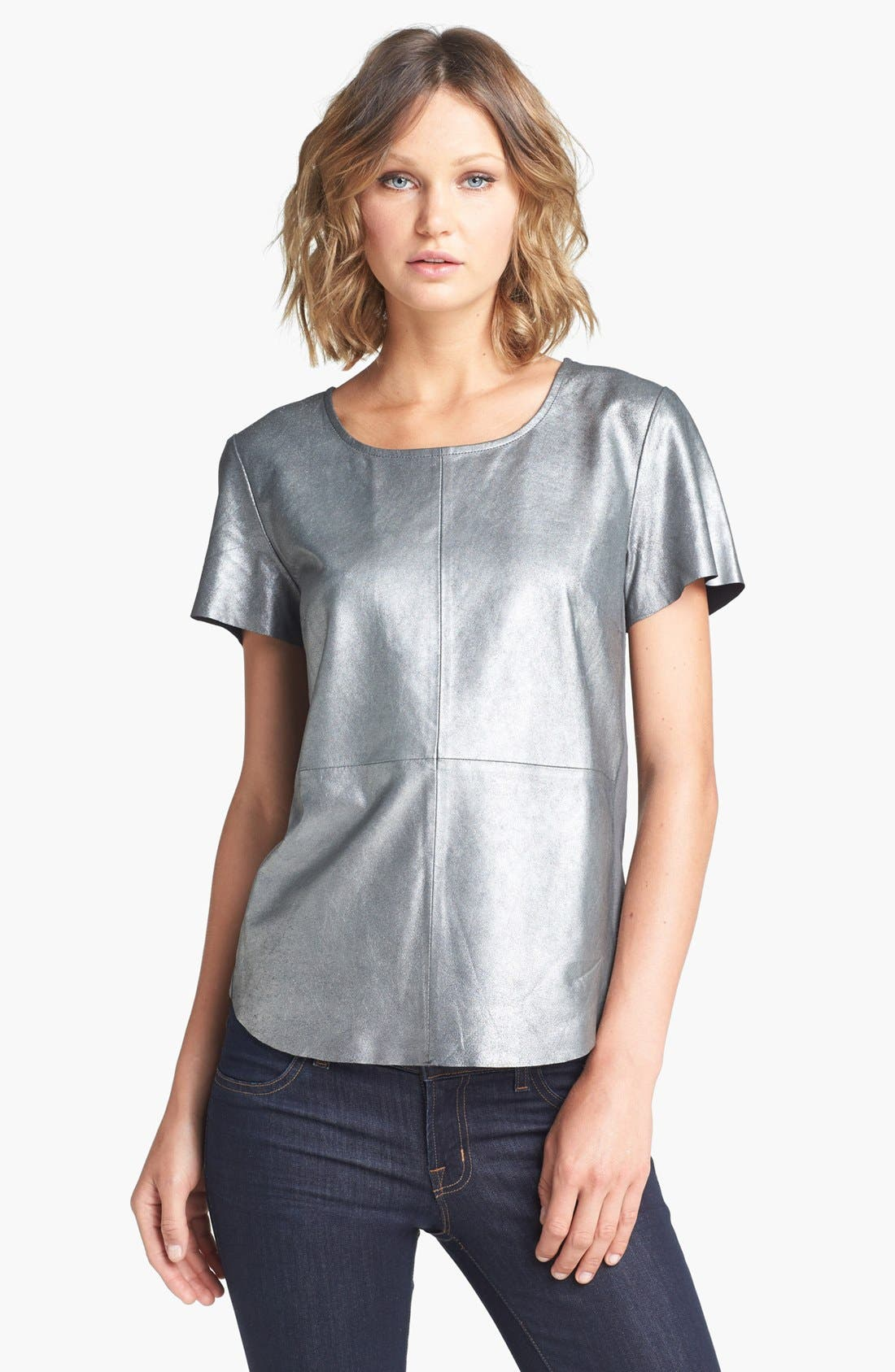 Main Image - Trouvé Leather Panel Tee