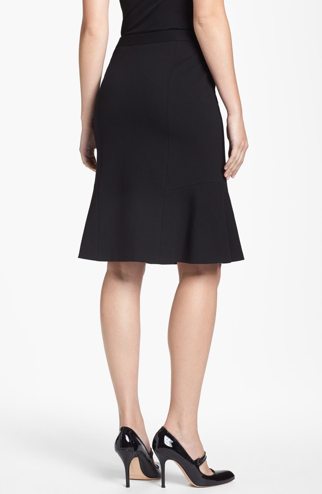 Alternate Image 2  - Classiques Entier® Ruffled Italian Ponte Skirt