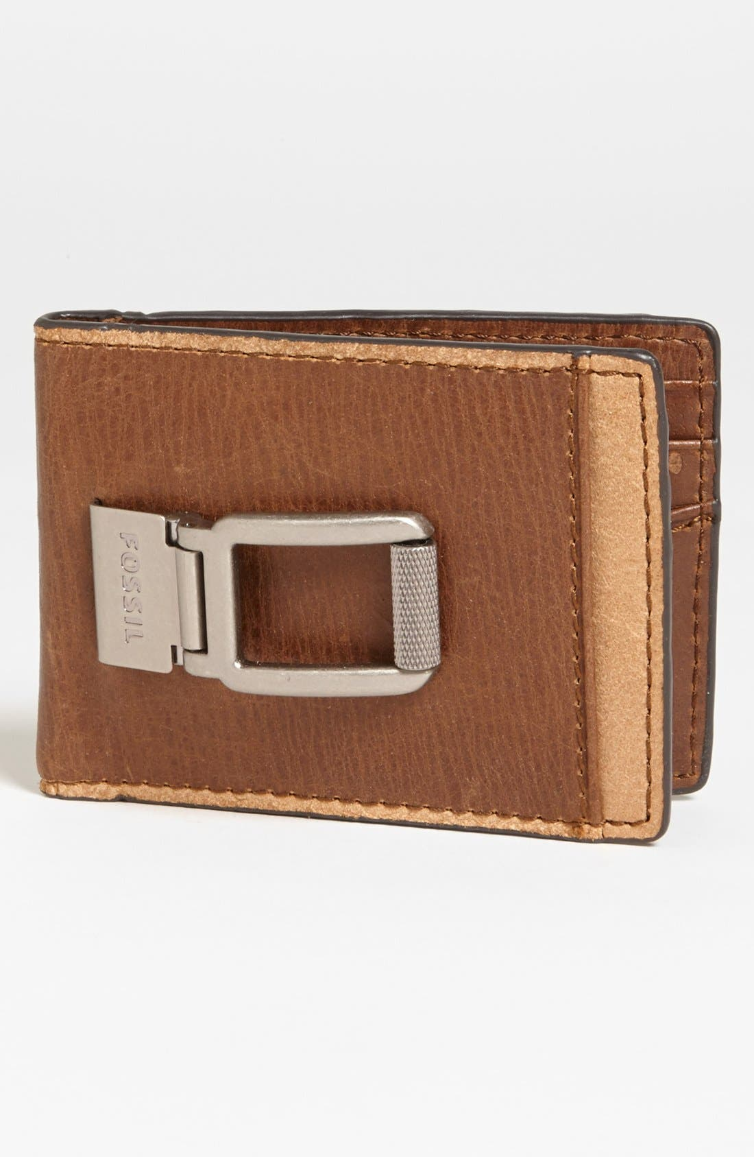 Main Image - Fossil 'Nolan' Money Clip Wallet