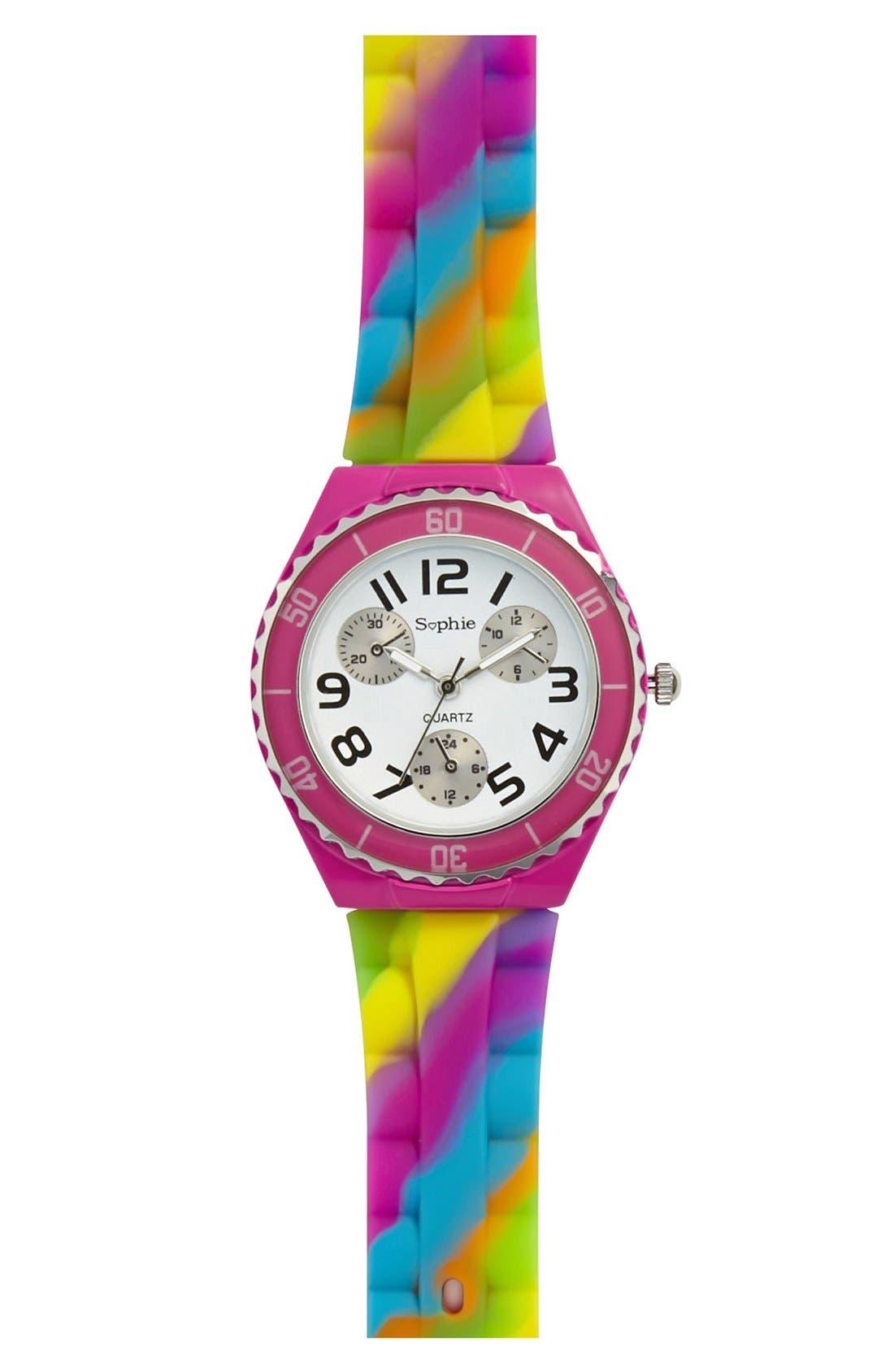 Alternate Image 1 Selected - Titanium Rainbow Watch (Girls)