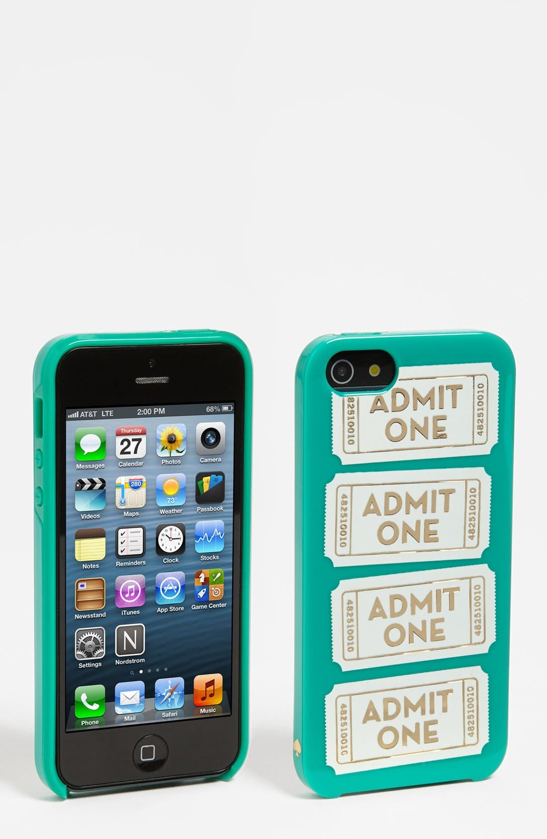 Alternate Image 1 Selected - kate spade new york 'admit one' iPhone 5 & 5S case