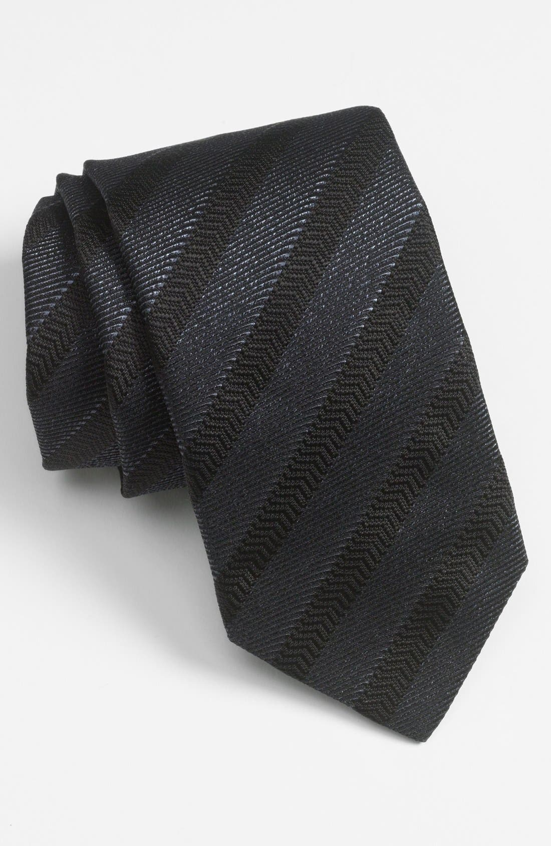 Alternate Image 1 Selected - Yves Saint Laurent Woven Herringbone Tie