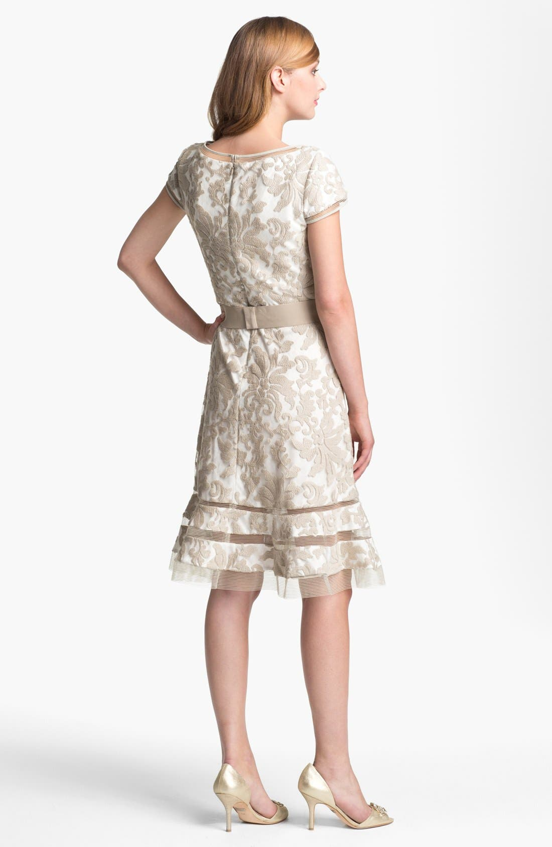 Alternate Image 2  - Tadashi Shoji Textured Lace Dress