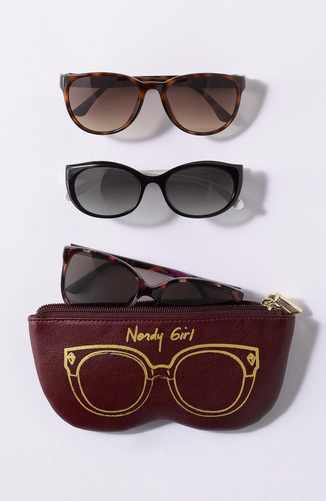 Alternate Image 5  - Rebecca Minkoff 'Nordy Girl' Leather Sunglasses Case