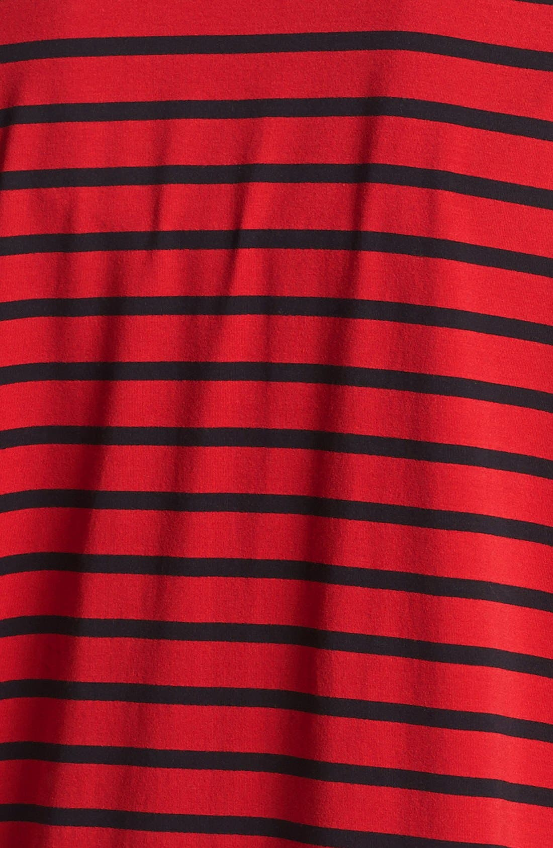 Alternate Image 3  - Two by Vince Camuto Faux Leather Sleeve Stripe Tee