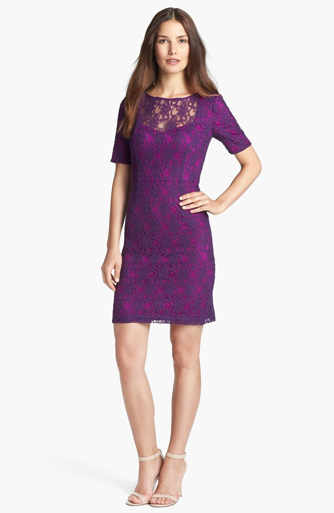 Main Image - Ivy & Blu Lace Sheath Dress