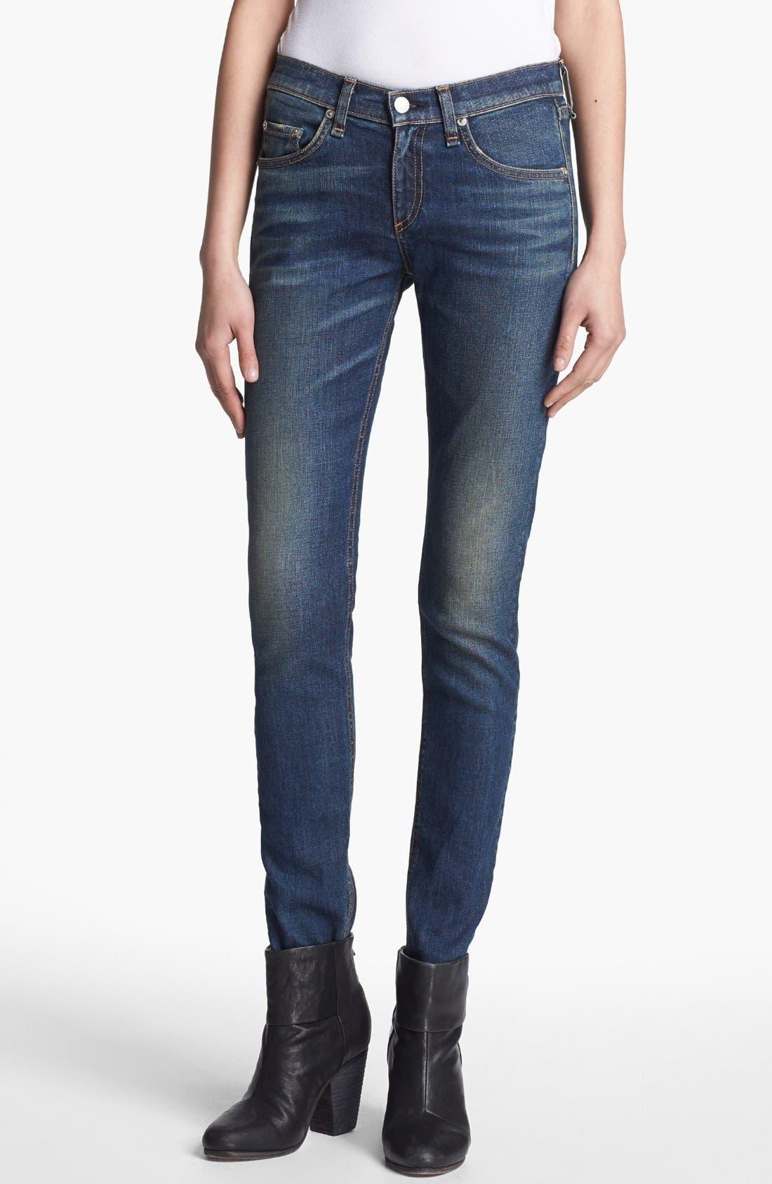 Alternate Image 1 Selected - rag & bone/JEAN Skinny Stretch Jeans (Stratham)