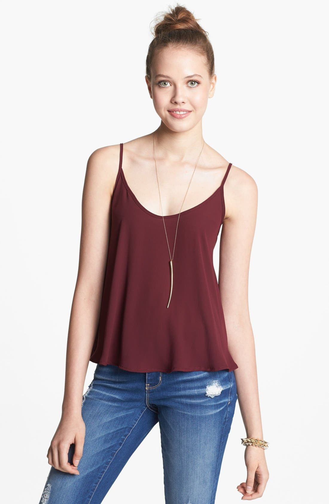 Alternate Image 1 Selected - Lush Chiffon Camisole (Juniors)
