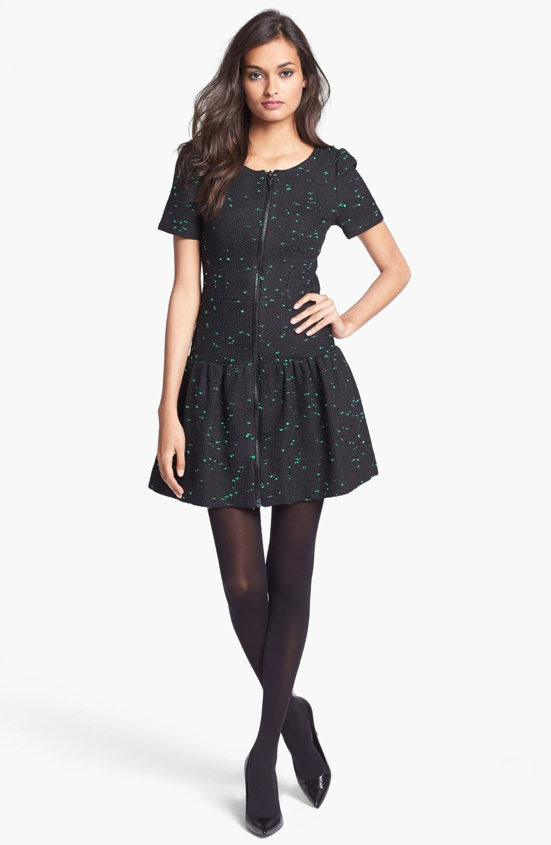 Main Image - Milly Short Sleeve Drop Waist Dress