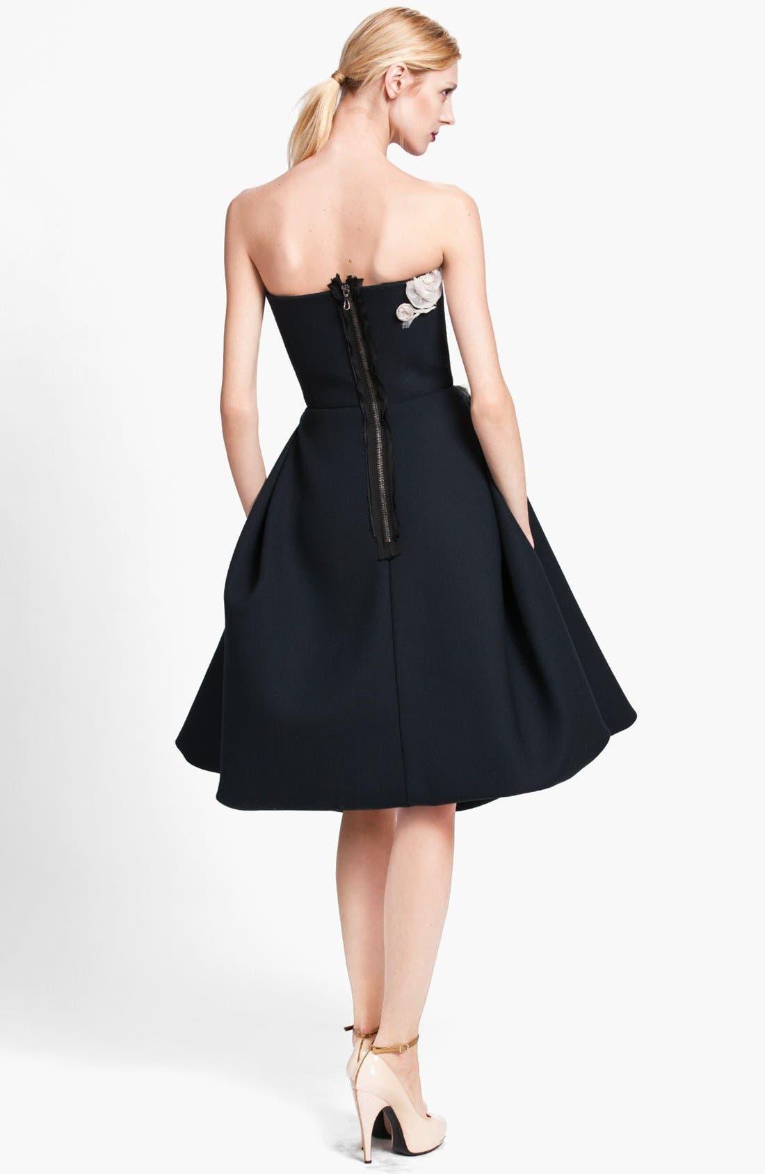 Alternate Image 2  - Lanvin Floral Appliqué Strapless Dress