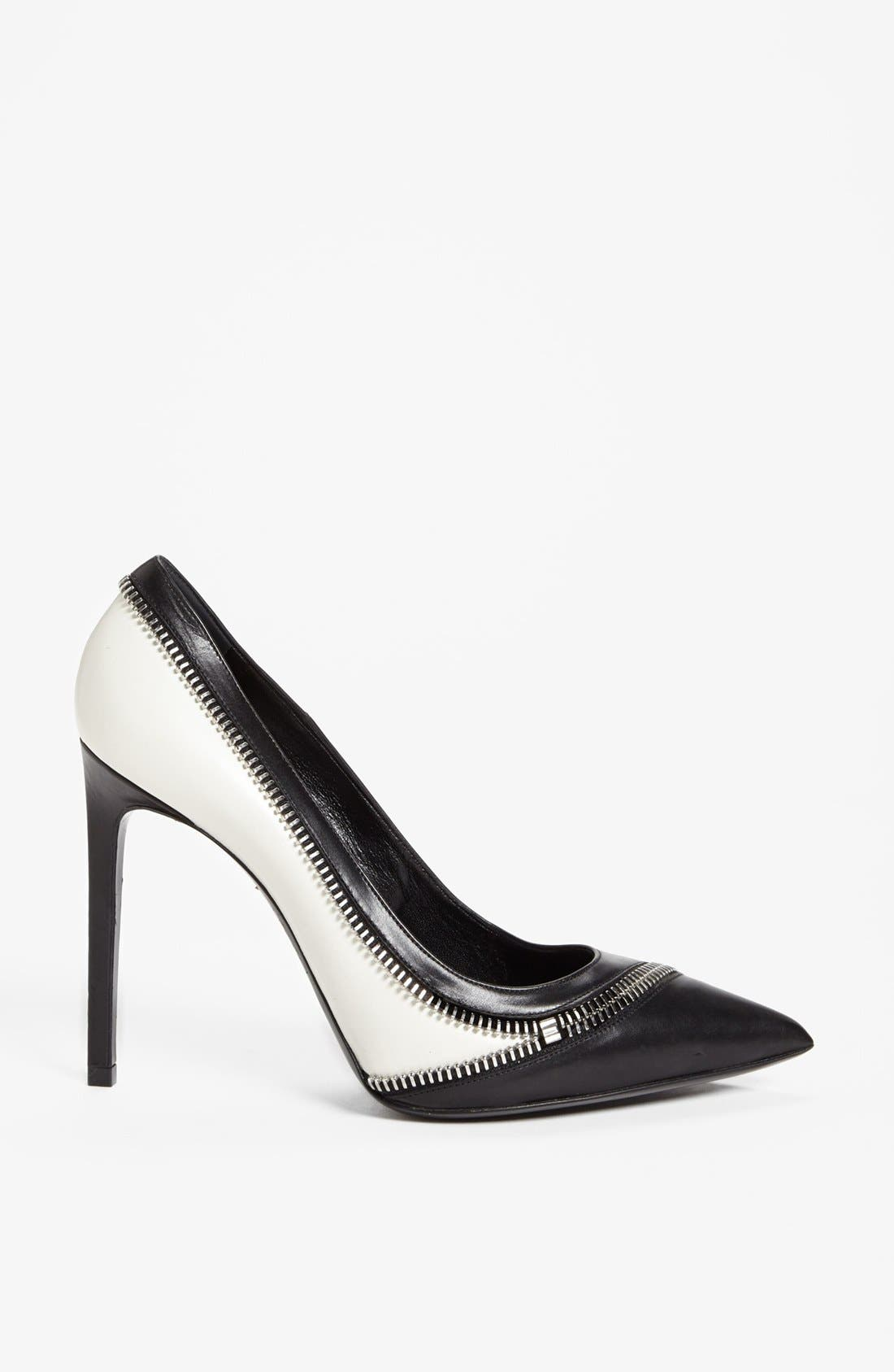 Alternate Image 3  - Saint Laurent 'Bicolore' Zipper Pump