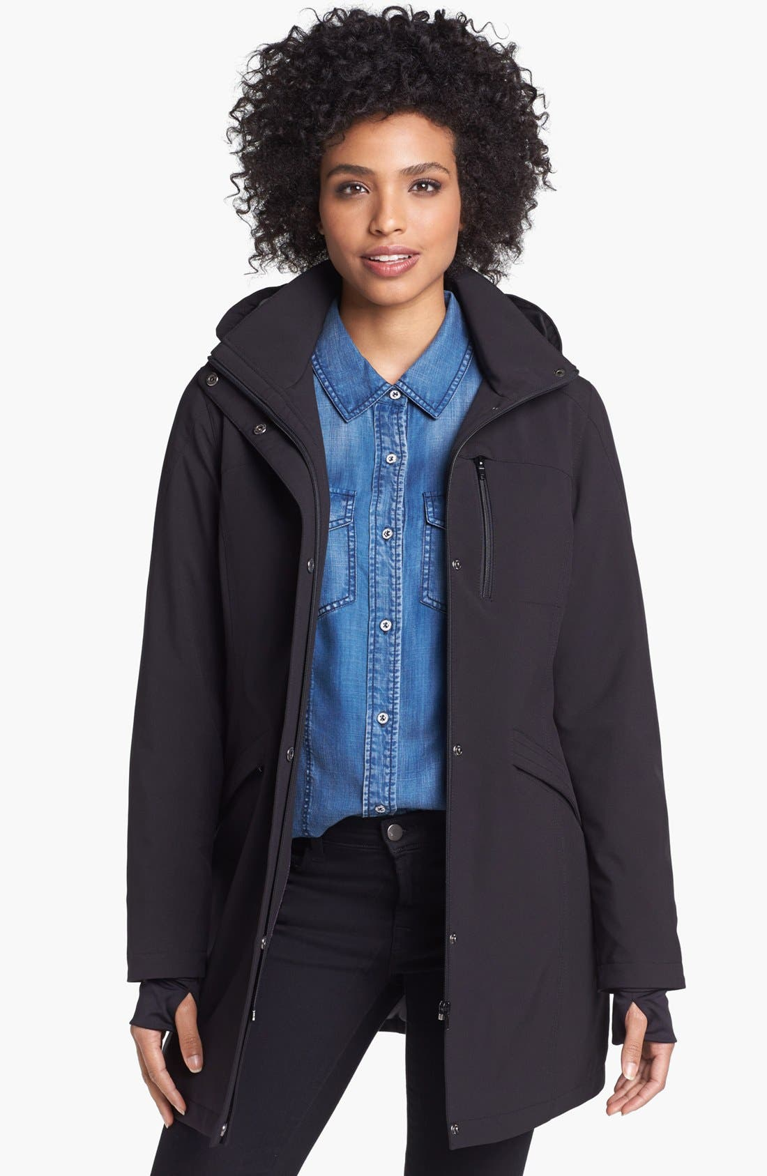 Alternate Image 1  - Kristen Blake Raincoat with Detachable Hood (Nordstrom Exclusive)