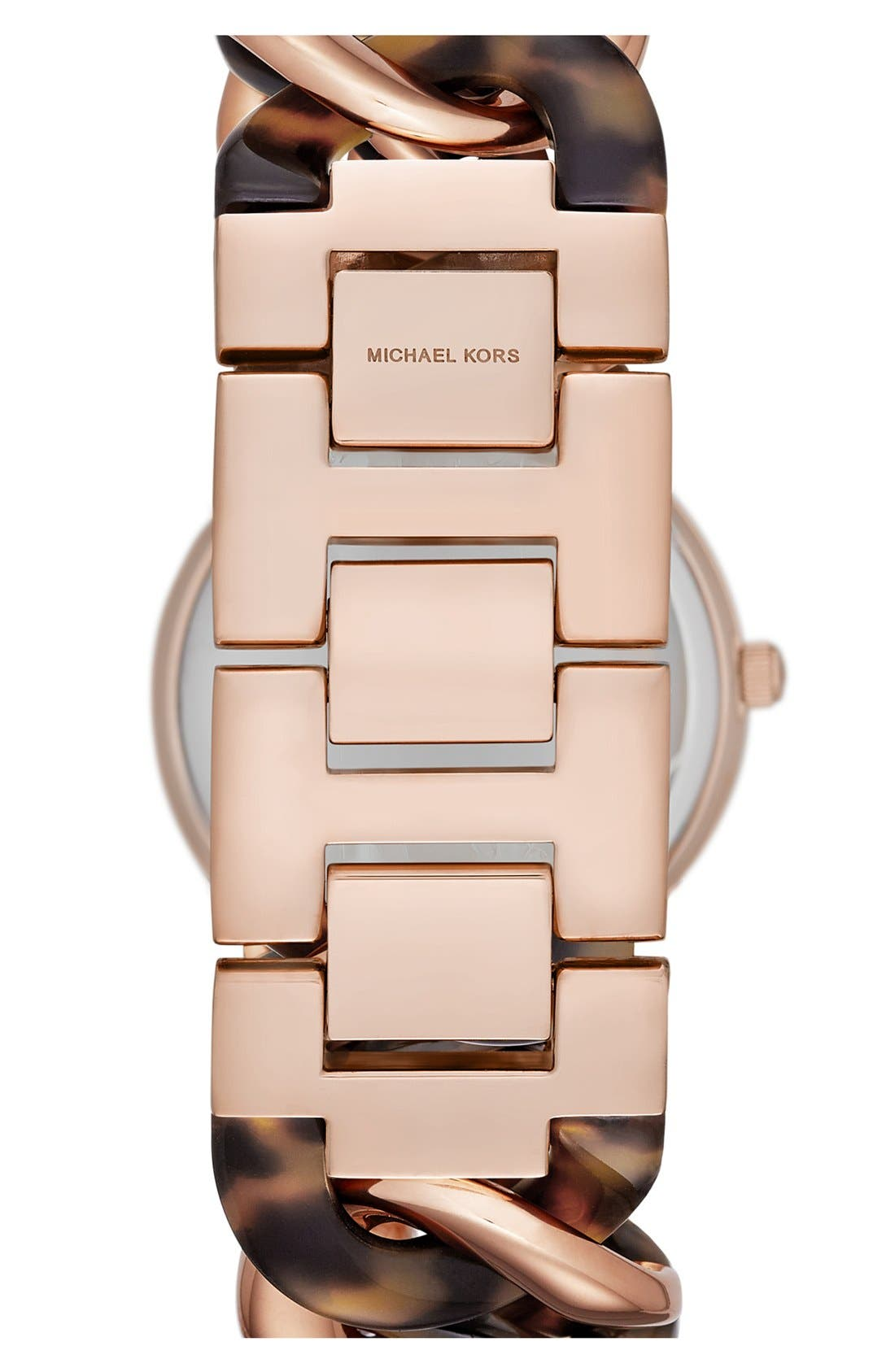 Alternate Image 2  - Michael Kors 'Lady Nini' Chain Link Bracelet Watch, 35mm