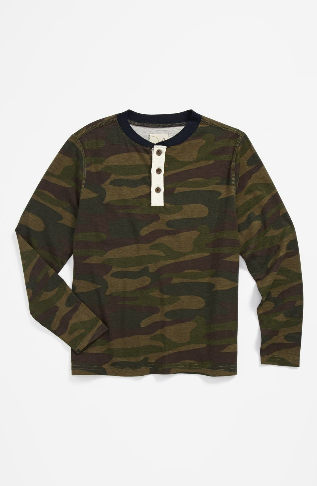 Alternate Image 1 Selected - Peek Camo Henley Shirt (Little Boys & Big Boys)