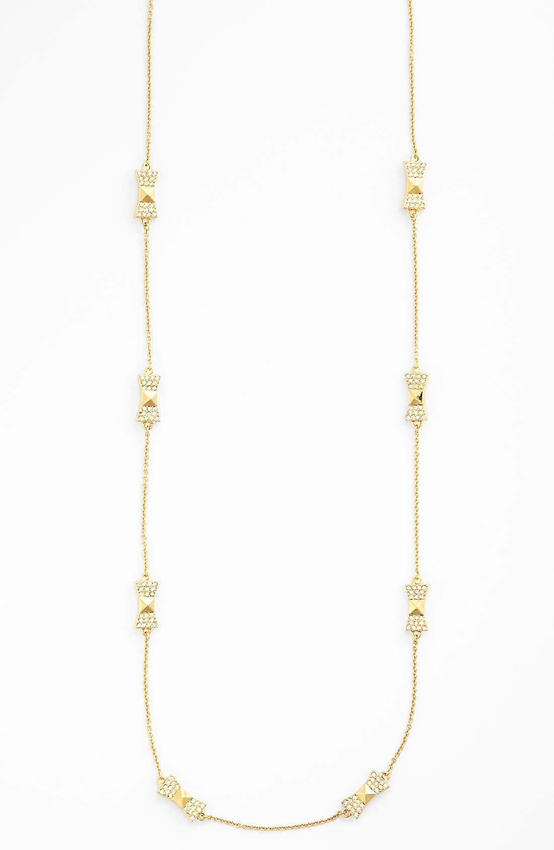 Alternate Image 2  - kate spade new york 'locked in' long bow necklace