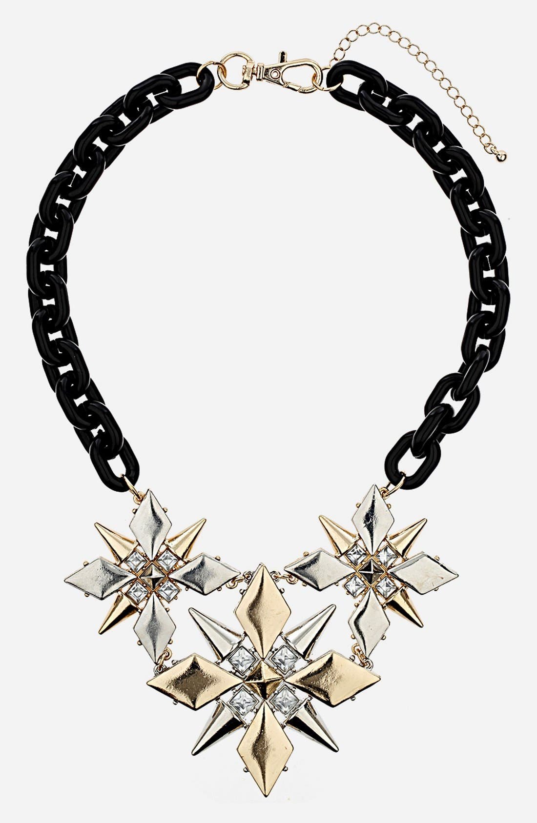 Main Image - Topshop Spike Flower Collar Necklace
