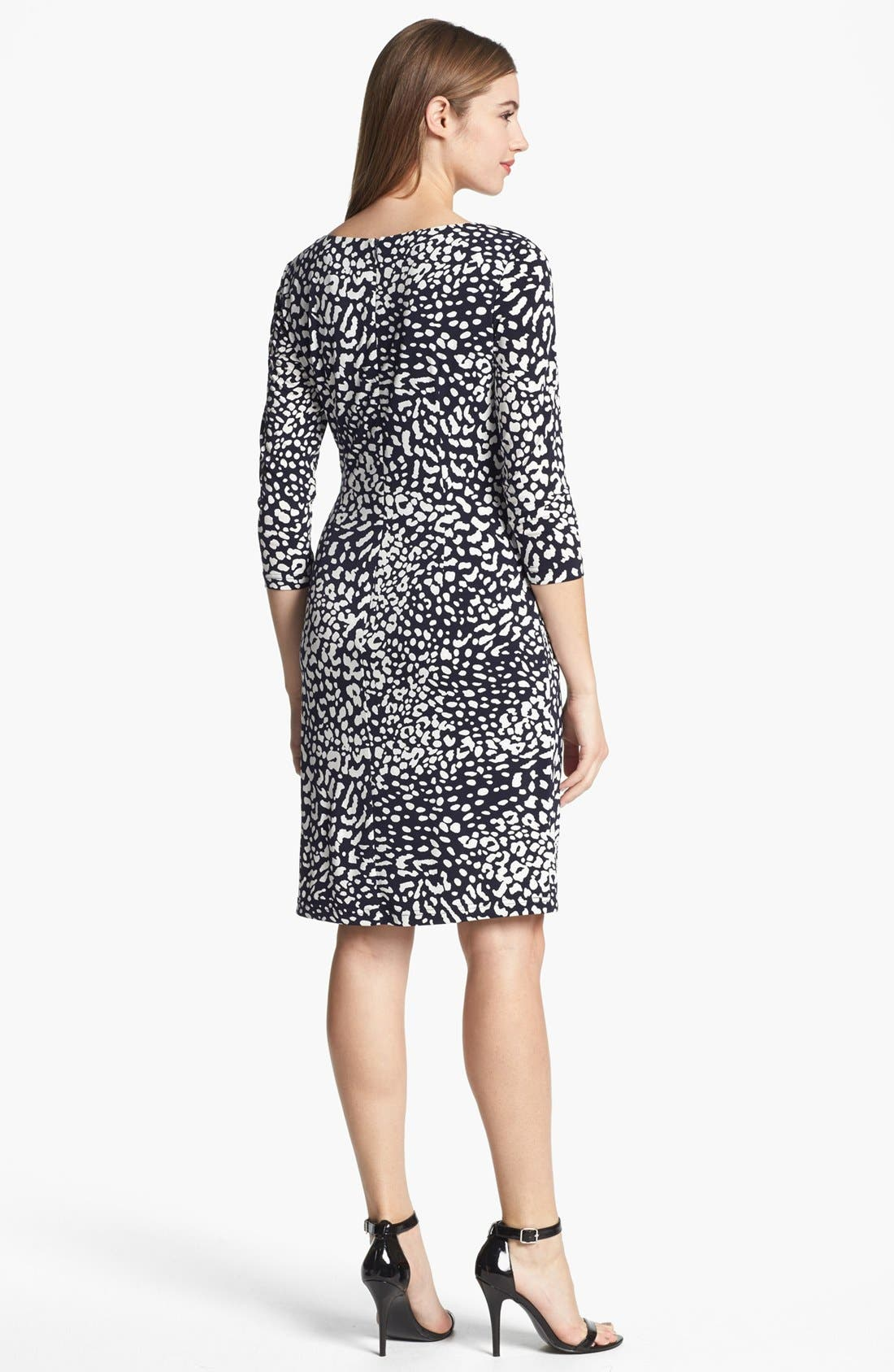Alternate Image 2  - Adrianna Papell Animal Print Ruched Sheath Dress (Plus Size)