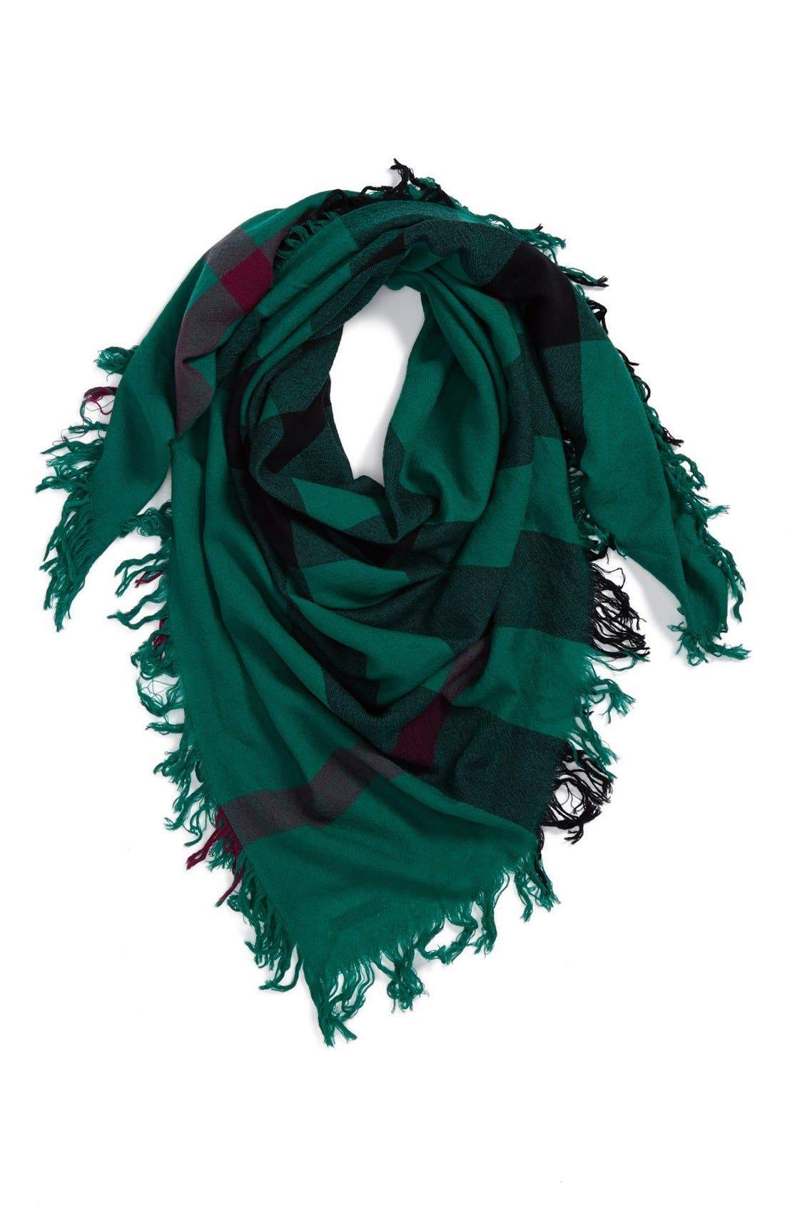 Alternate Image 1 Selected - Burberry 'Colour Check' Square Scarf
