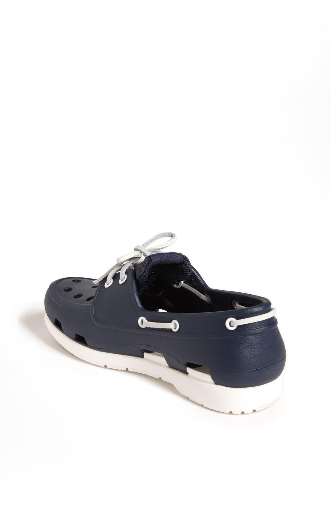 Alternate Image 2  - CROCS™ 'Beach Line' Boat Shoe Clog (Little Kid & Big Kid)