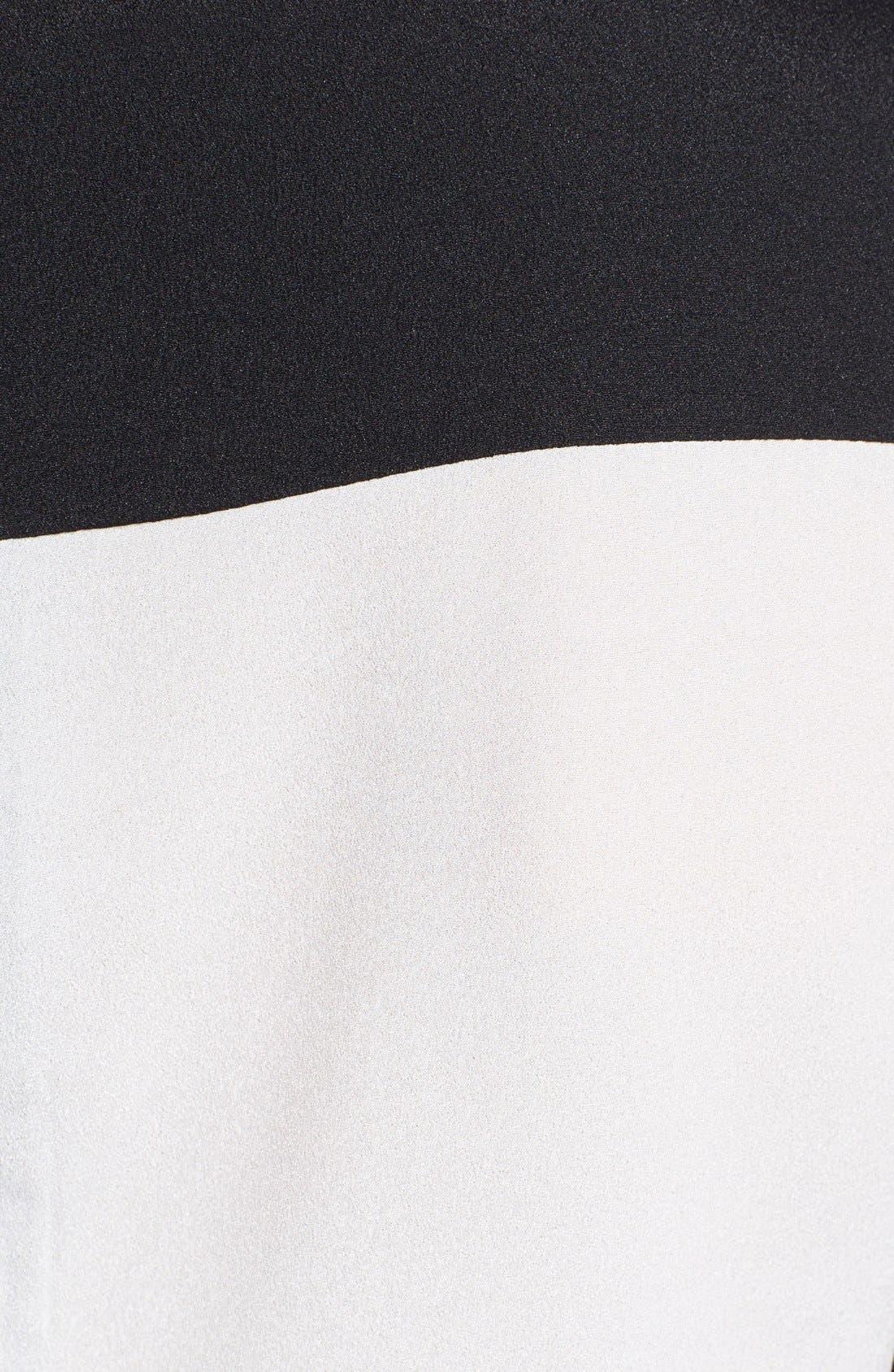 Alternate Image 3  - Calvin Klein Zip Detail Colorblock Blouse
