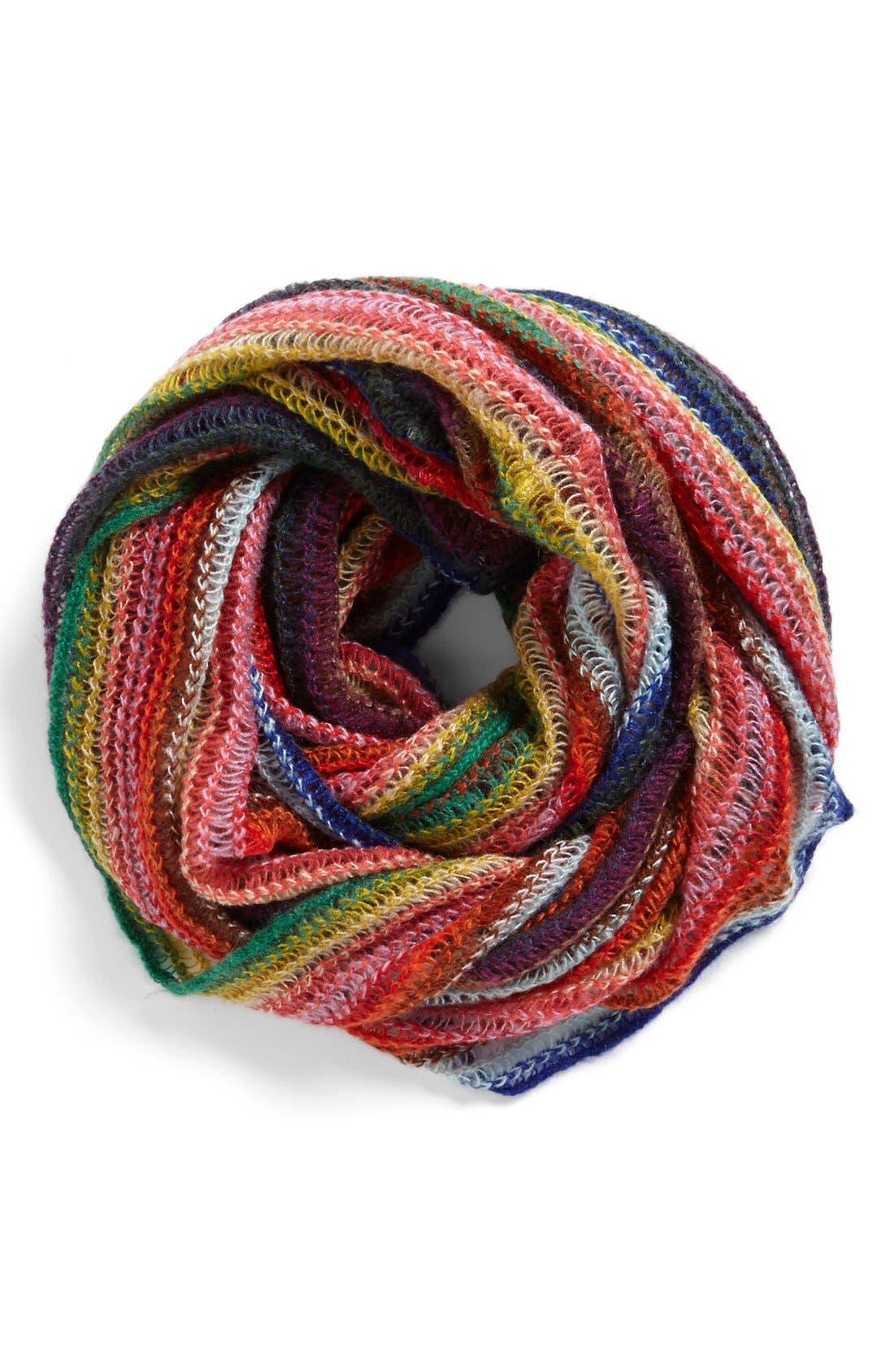 Alternate Image 1 Selected - Echo 'Fuzzy Stripe' Infinity Scarf
