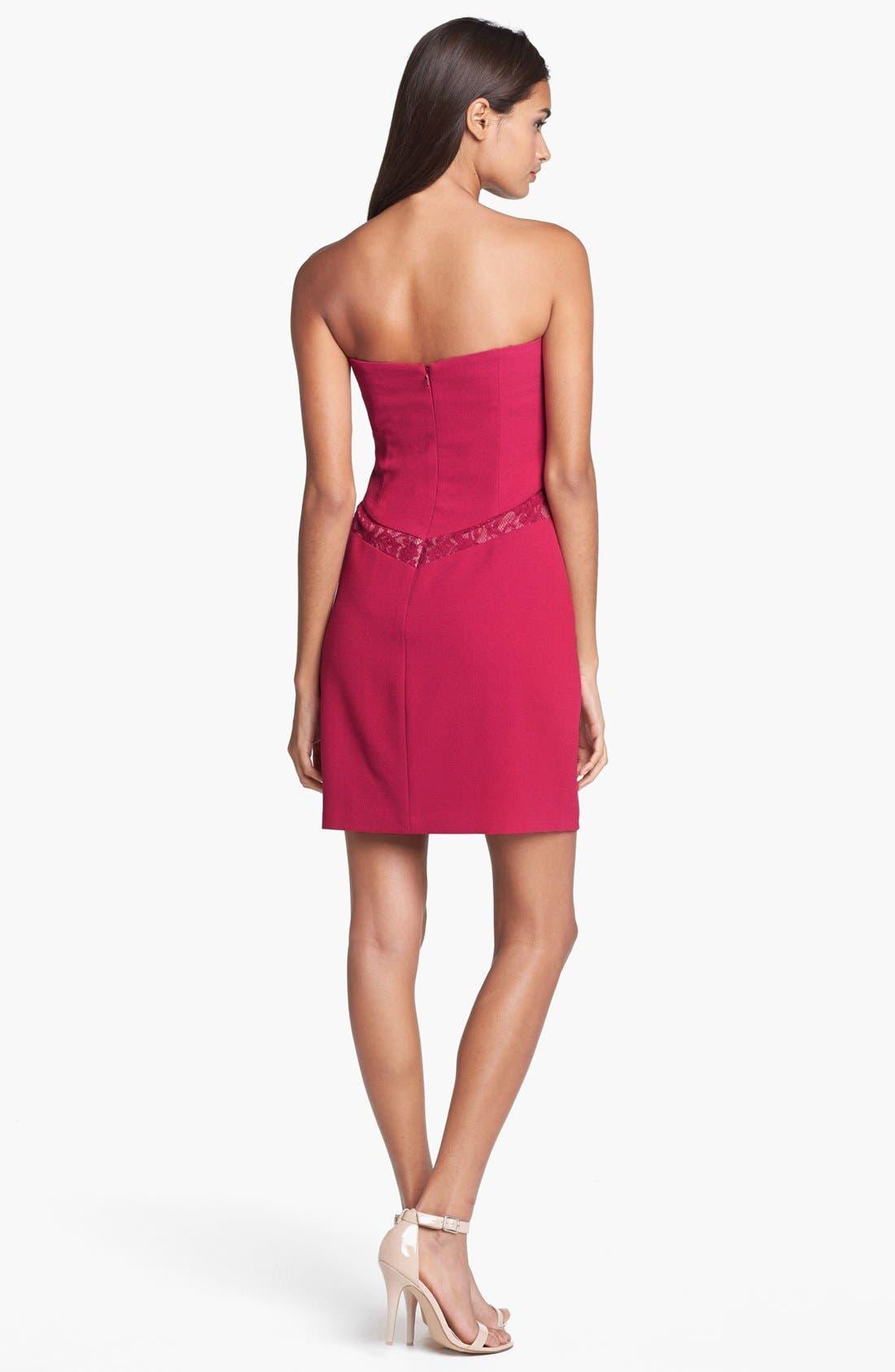 Alternate Image 2  - Max & Cleo Lace Inset Crepe Sheath Dress