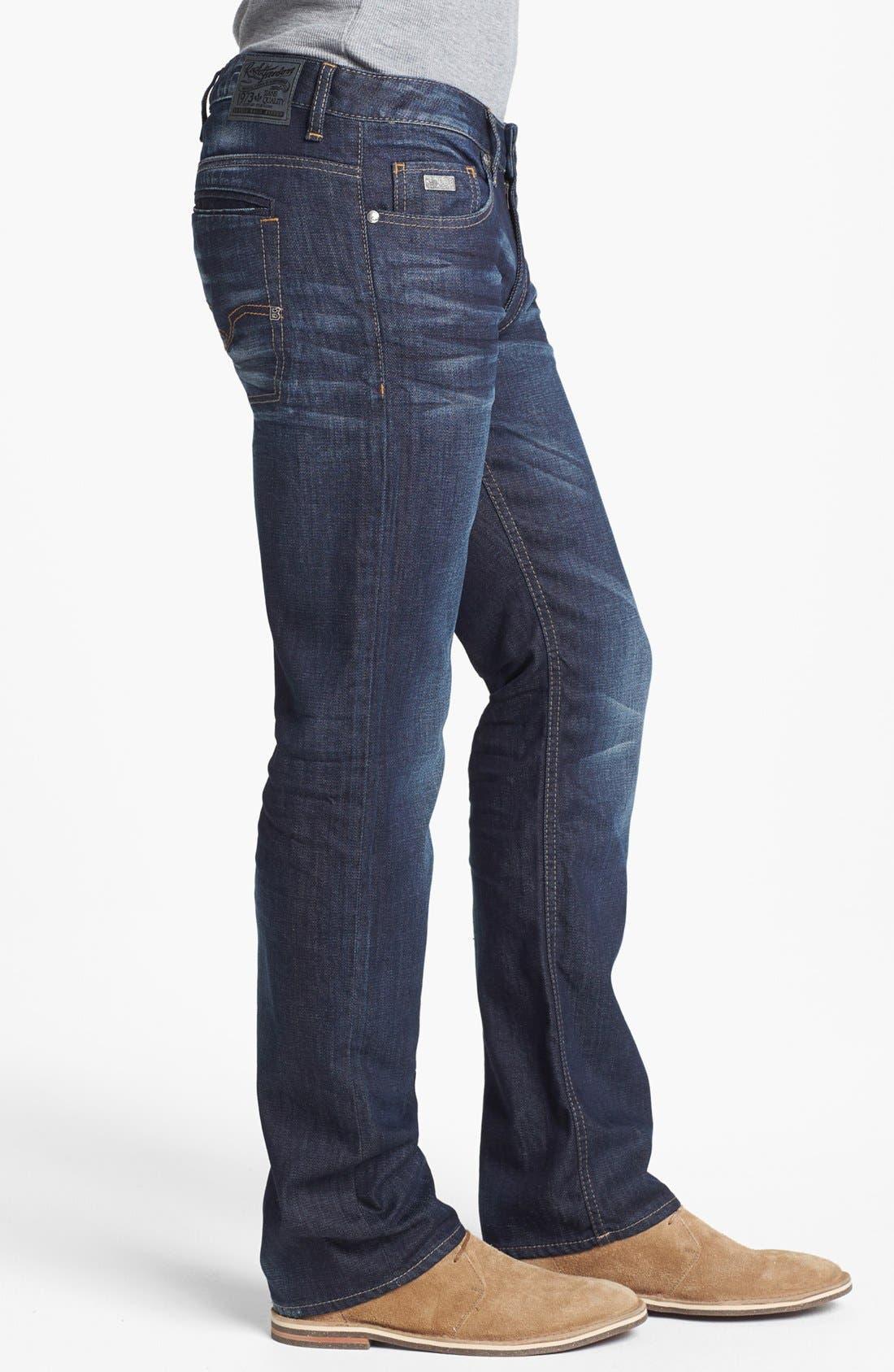 Alternate Image 3  - Buffalo Jeans 'Six' Straight Leg Jeans (Slightly Washed)