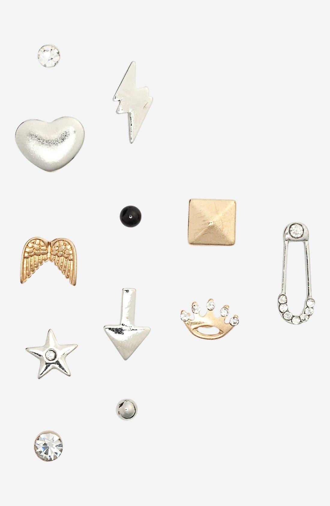 Alternate Image 2  - Orion 'Princess' Stud Earrings (Set of 12)