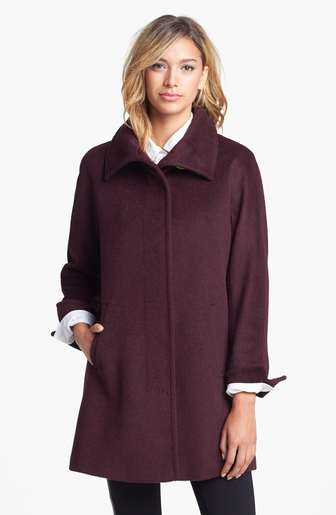 Main Image - Ellen Tracy Wool Blend A-Line Coat (Nordstrom Exclusive) (Regular & Petite)