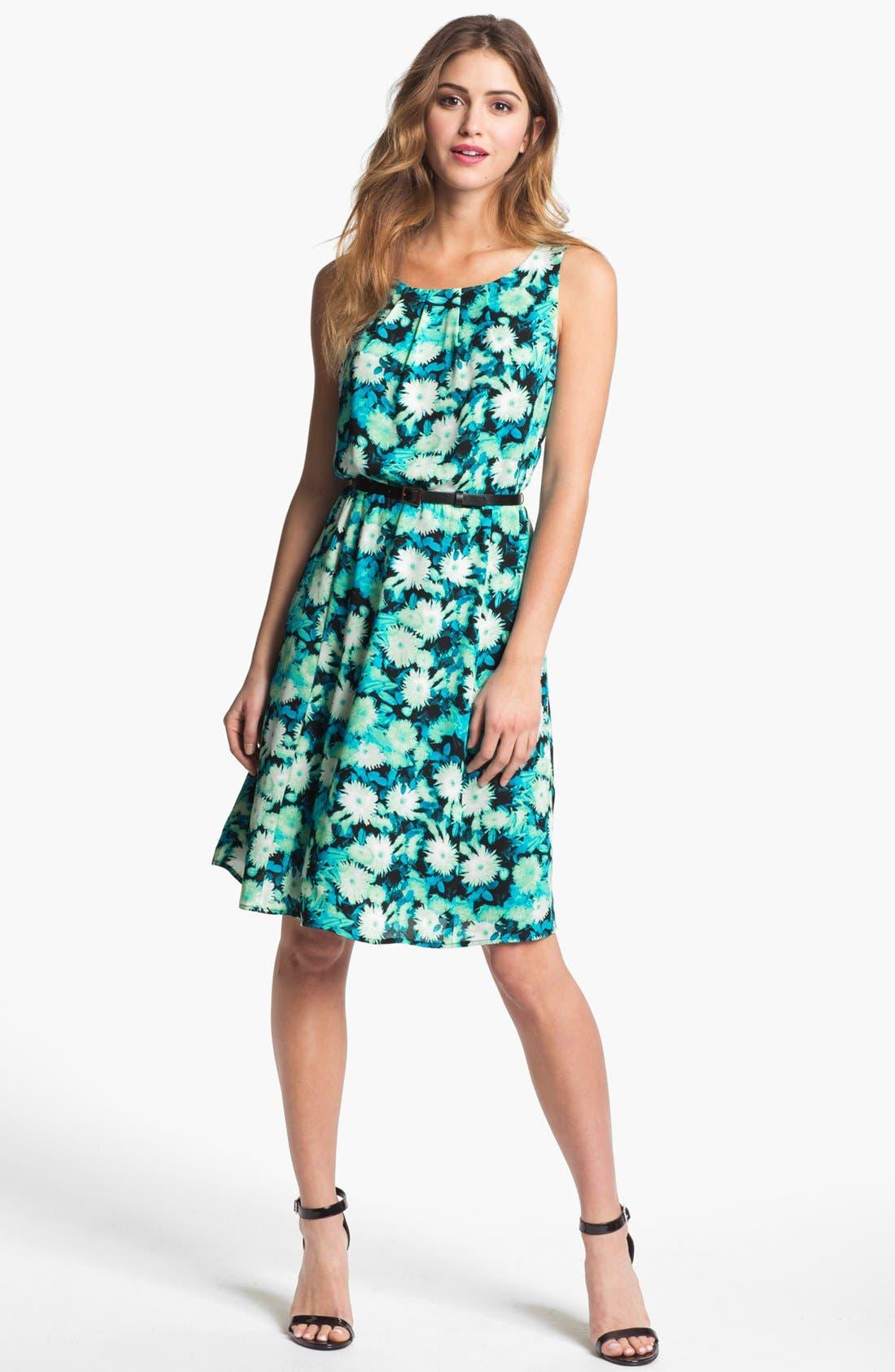 Main Image - Halogen® Back Cutout Dress (Petite)