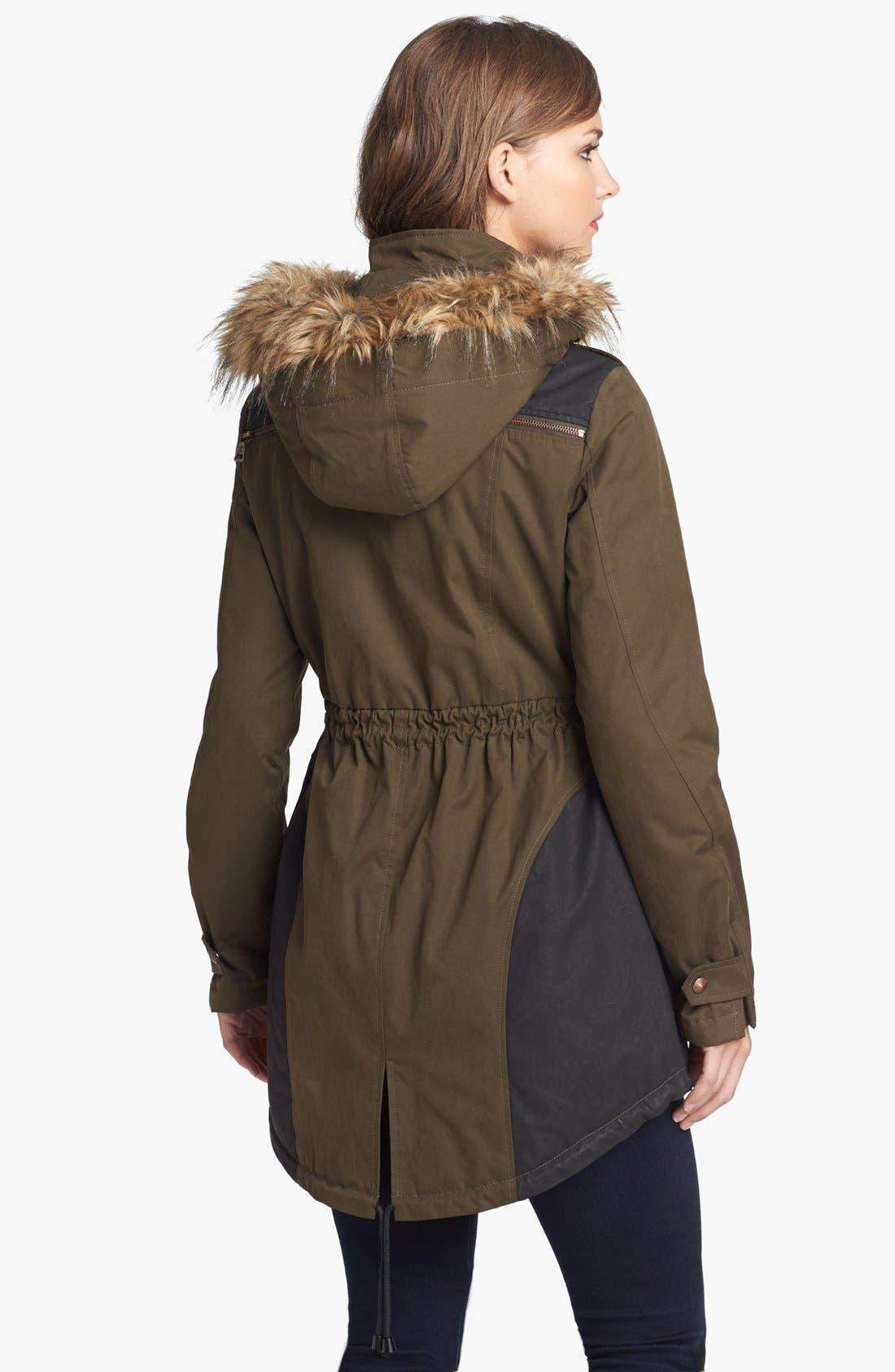 Alternate Image 2  - Sam Edelman 'Louie' Faux Fur Trim Anorak