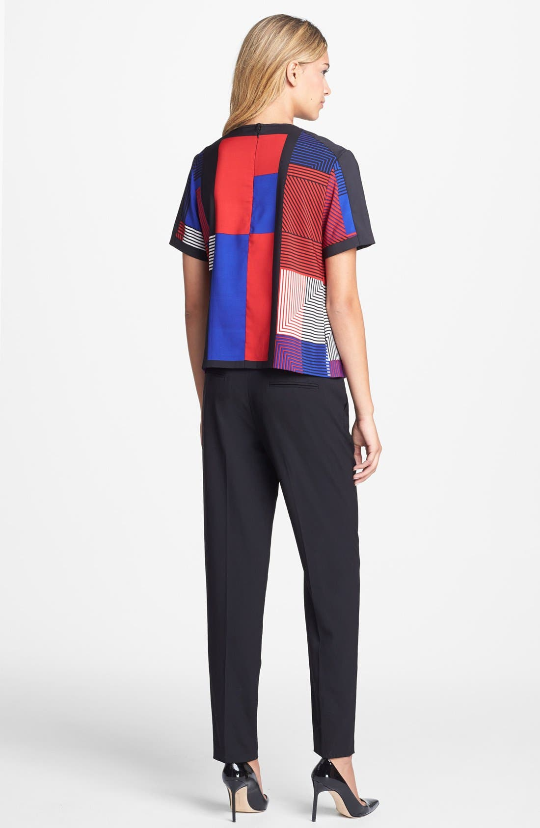 Alternate Image 5  - Vince Camuto Patchwork Colorblock Woven Top